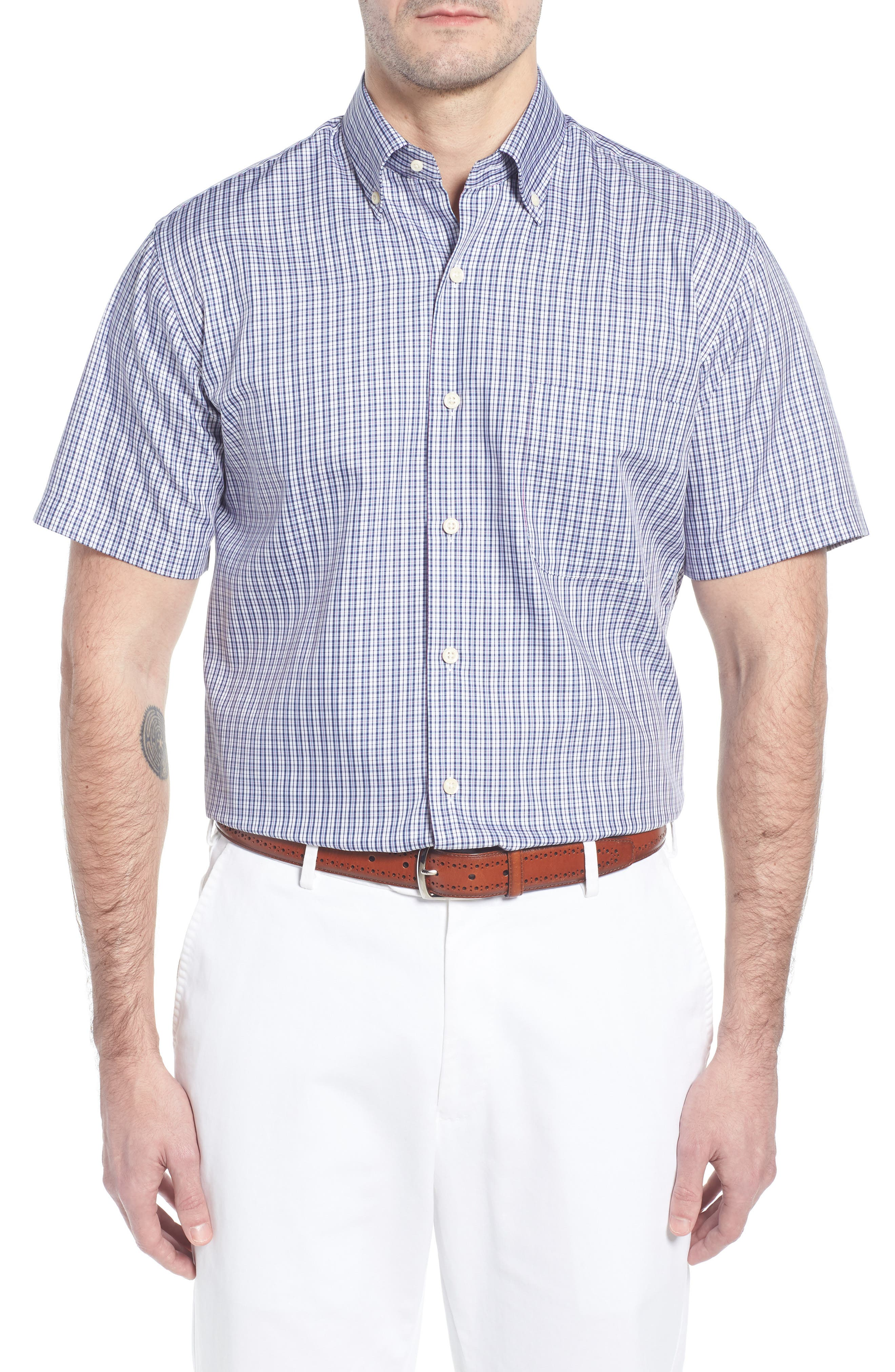 Crown Soft Carlsplaid Regular Fit Sport Shirt,                         Main,                         color, 412