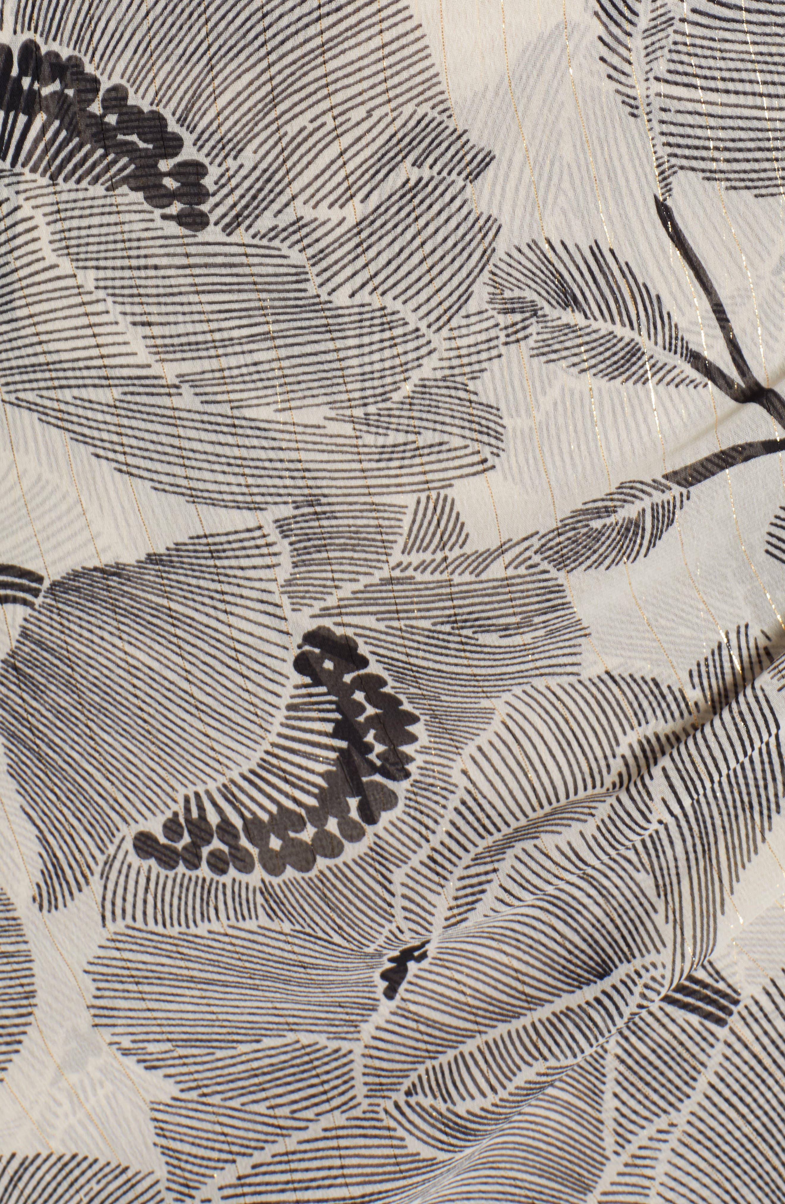ASTR THE LABEL,                             Floral Print Faux Wrap Dress,                             Alternate thumbnail 6, color,                             IVORY FLORAL