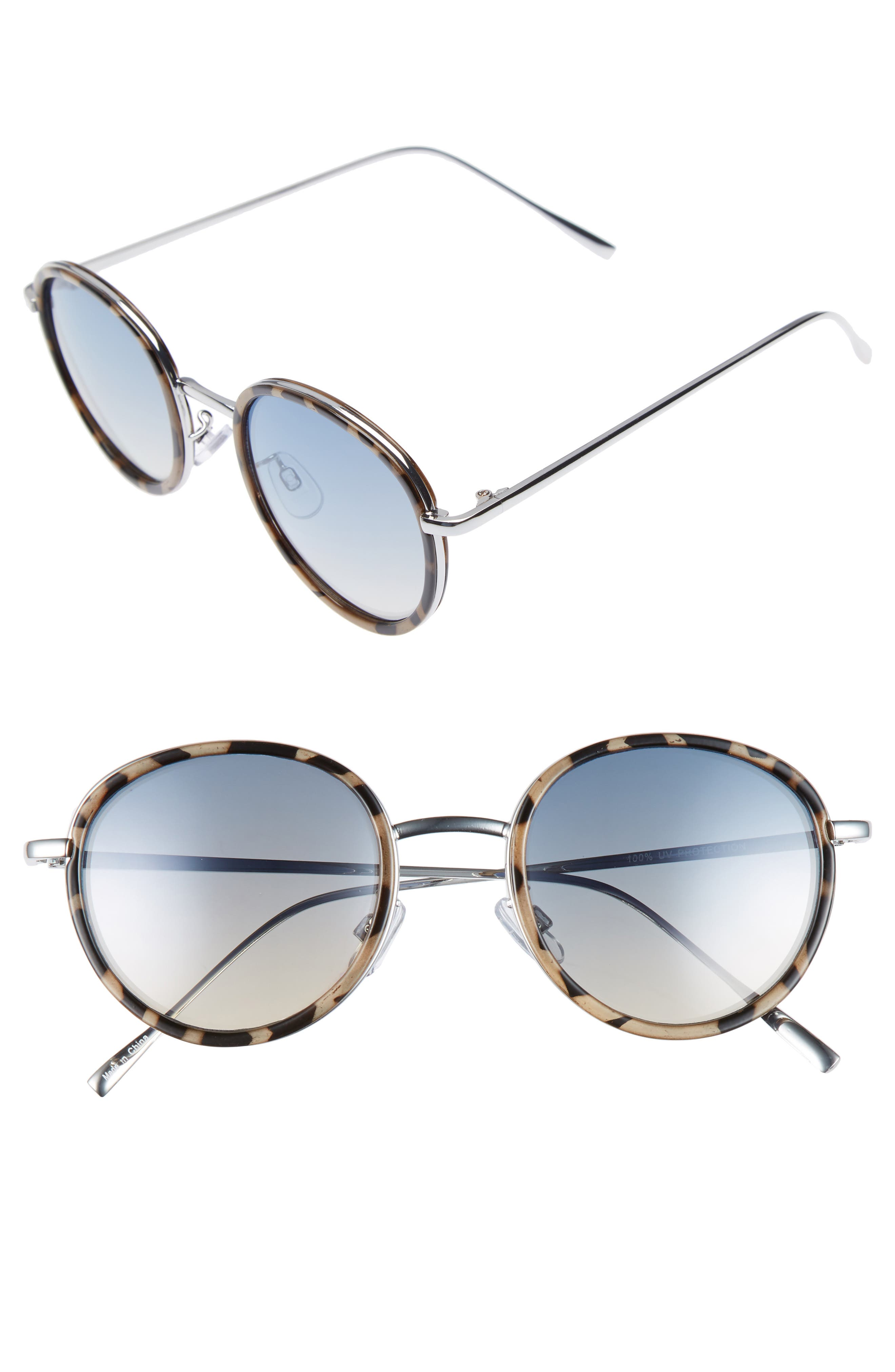 Round Sunglasses,                             Main thumbnail 1, color,                             400