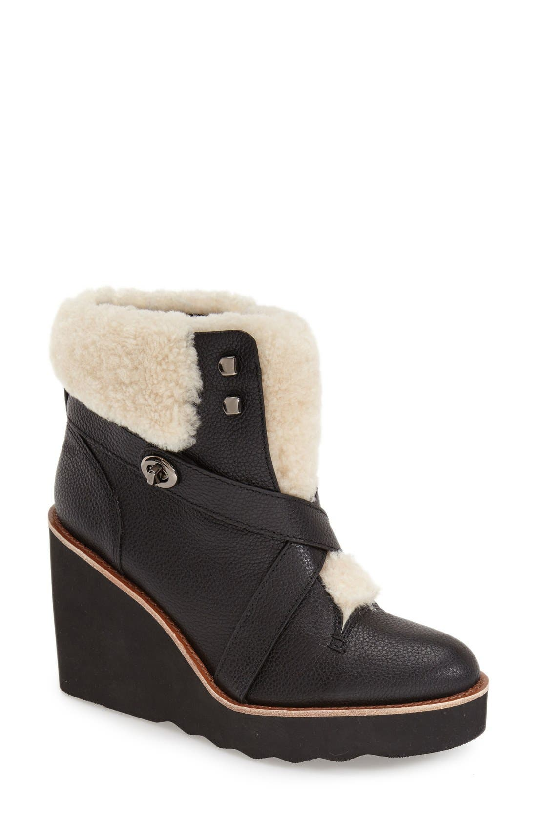 'Kenna' Wedge Bootie,                             Main thumbnail 1, color,                             001