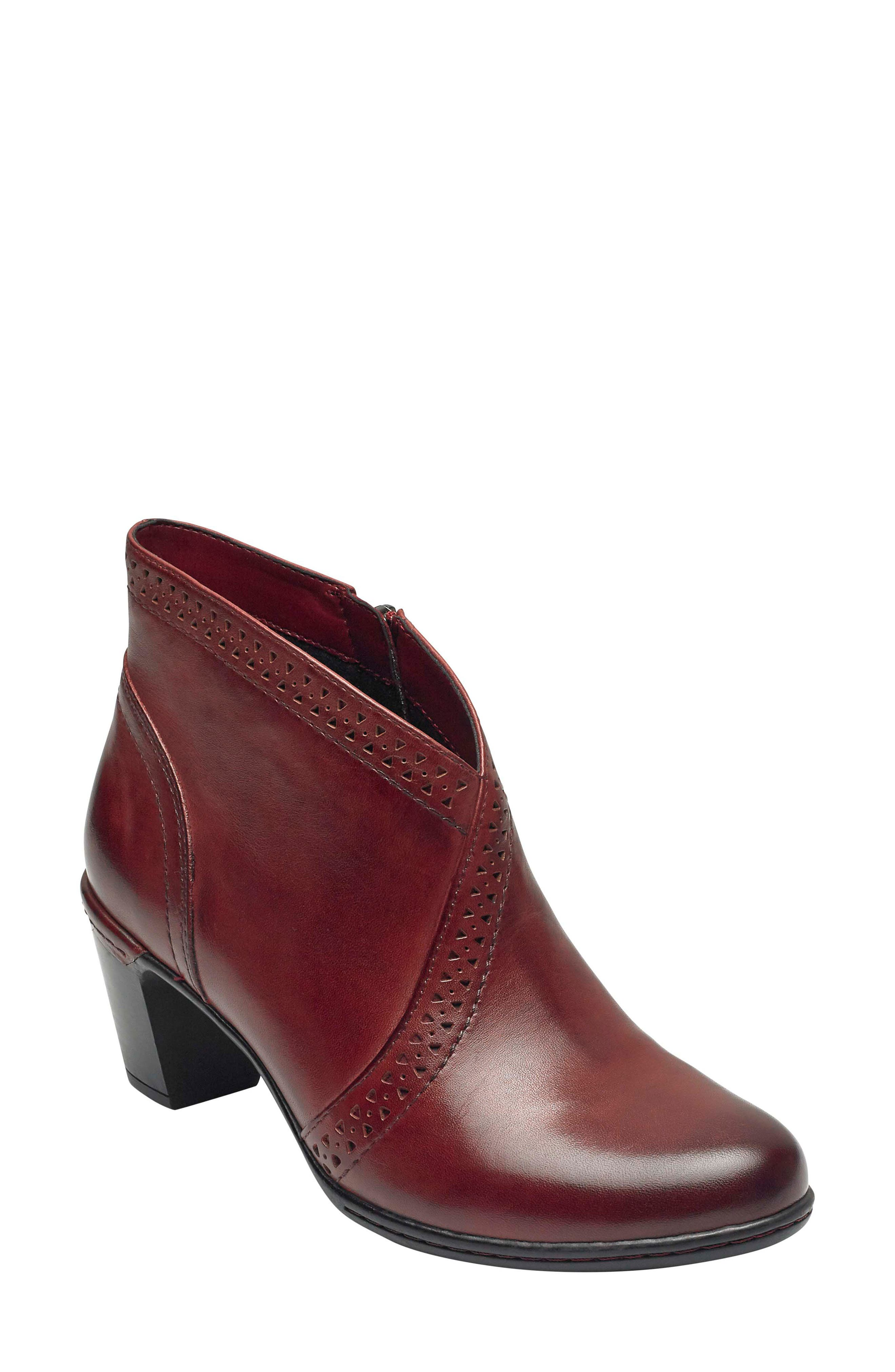 Rockport Cobb Hill Rashel Bootie, Red