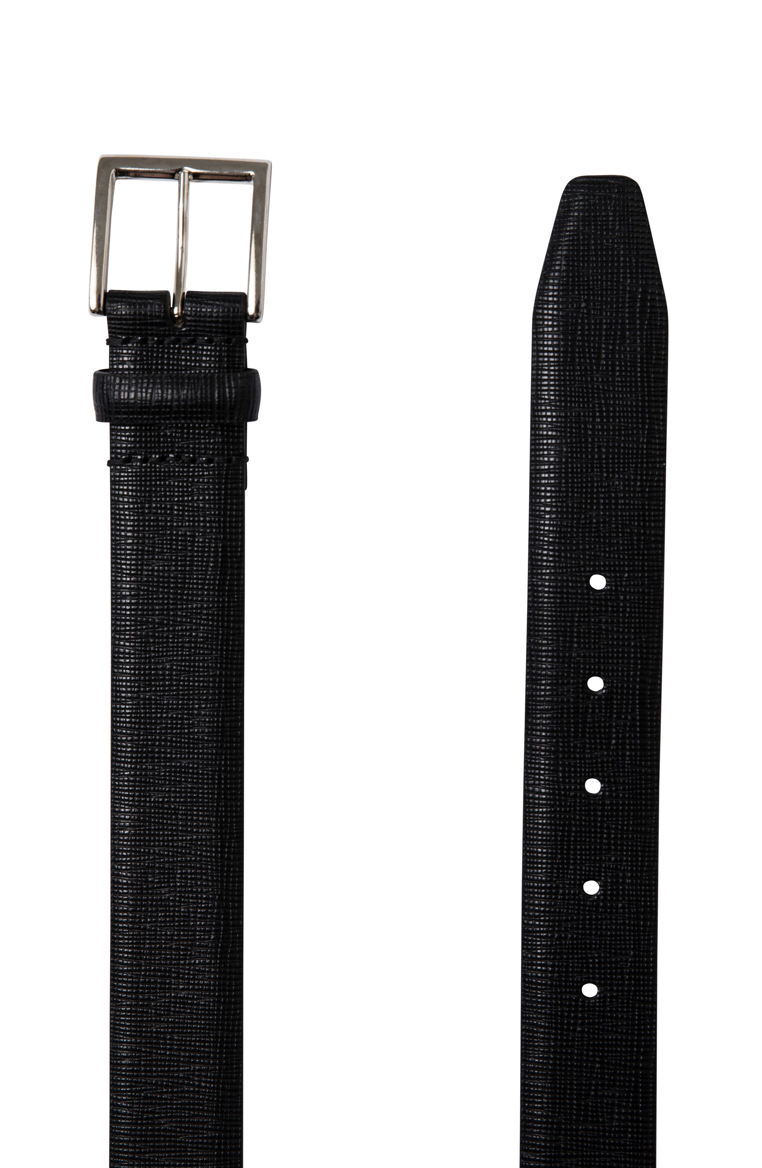 Baywater Avenue Leather Belt,                             Alternate thumbnail 2, color,                             001
