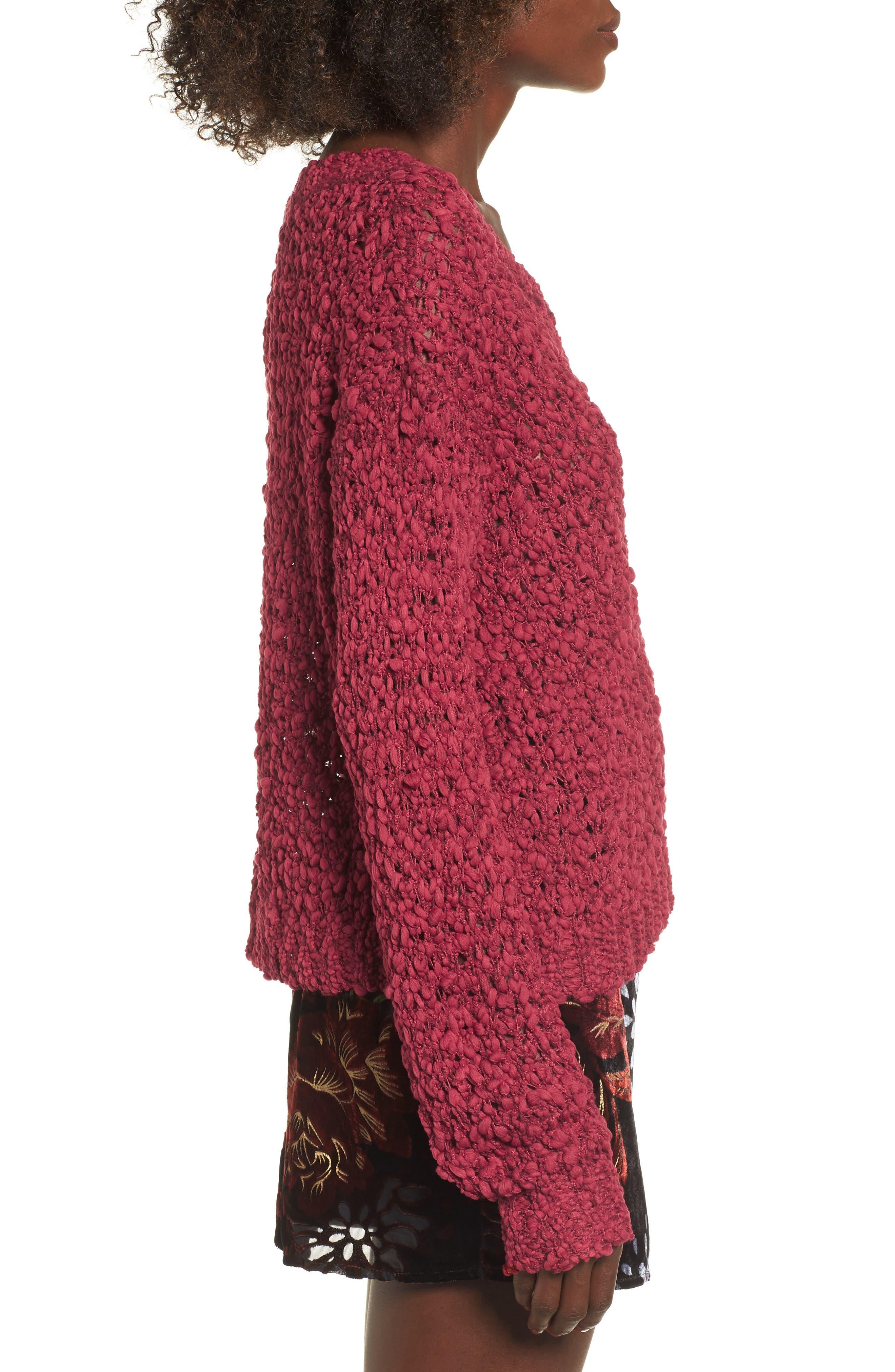 Knit Sweater,                             Alternate thumbnail 3, color,                             628