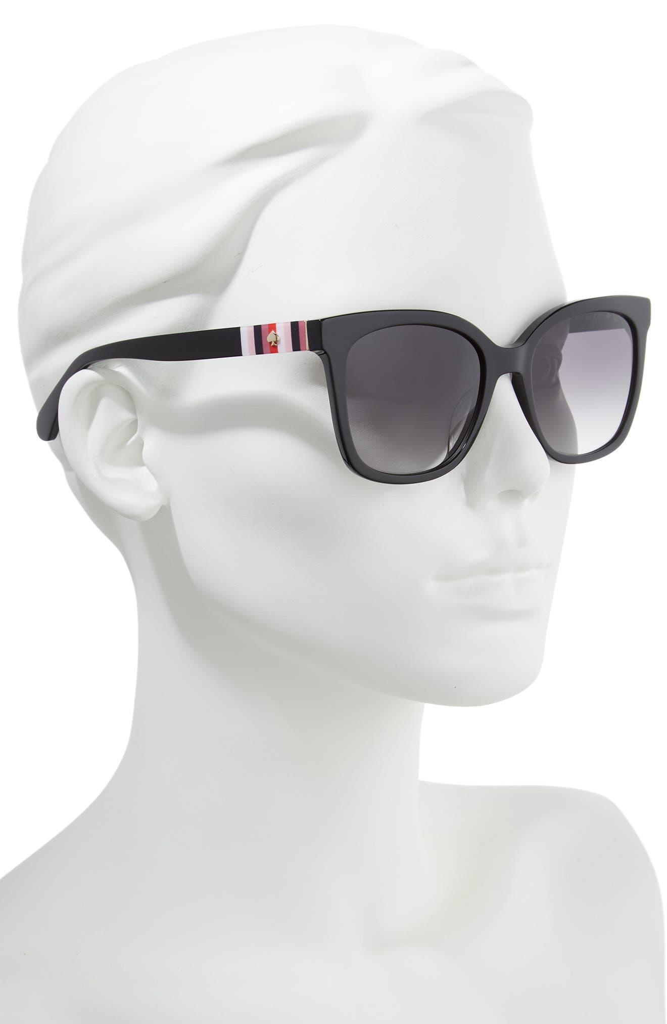 kiya 53mm sunglasses,                             Alternate thumbnail 2, color,                             BLACK
