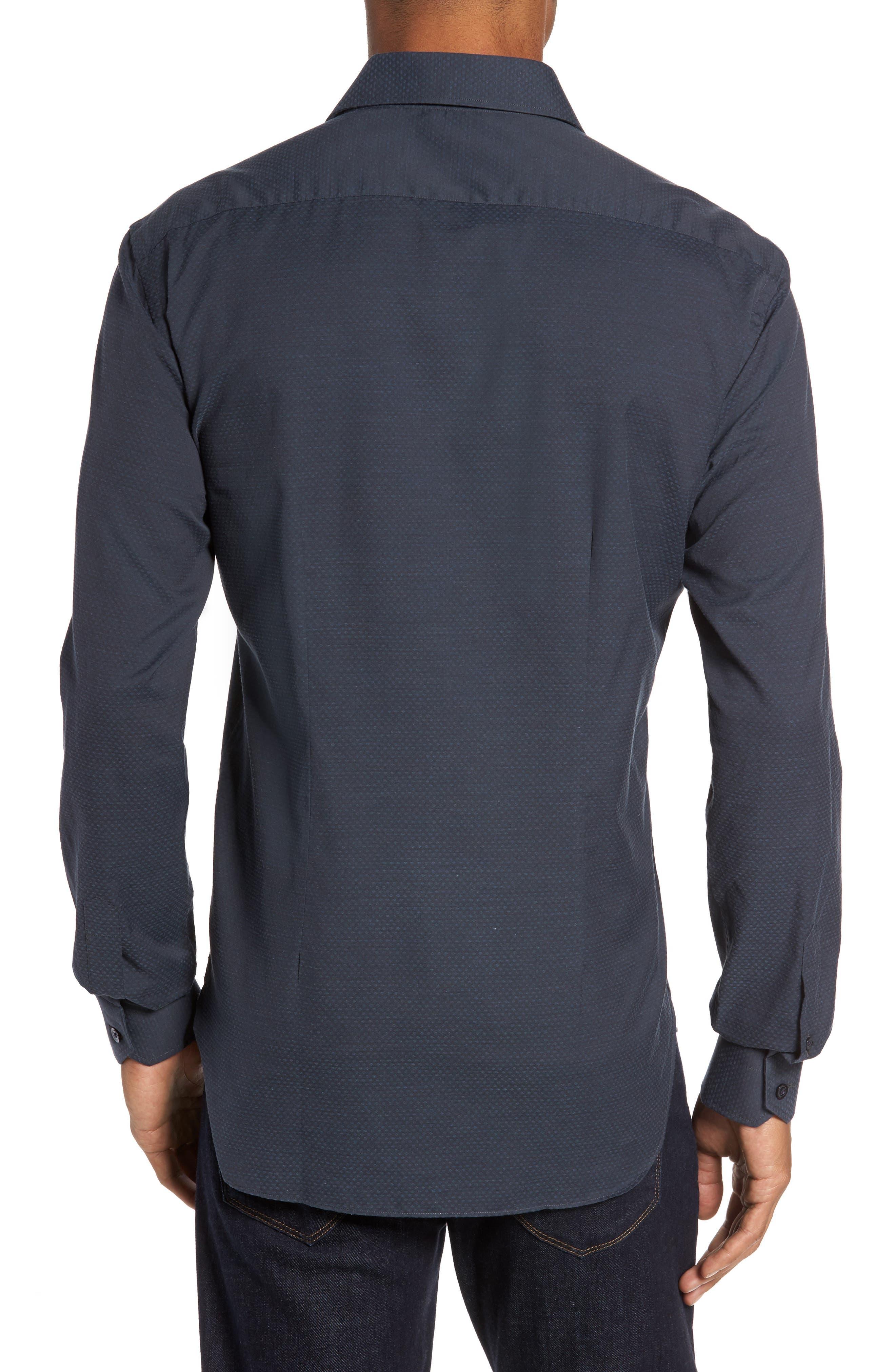 Trim Fit Print Sport Shirt,                             Alternate thumbnail 2, color,