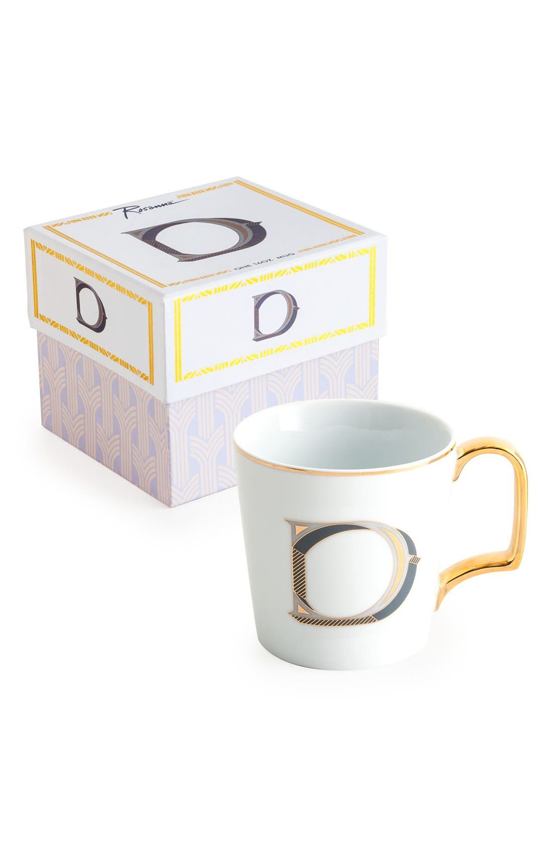 Monogram Porcelain Coffee Mug,                             Main thumbnail 4, color,