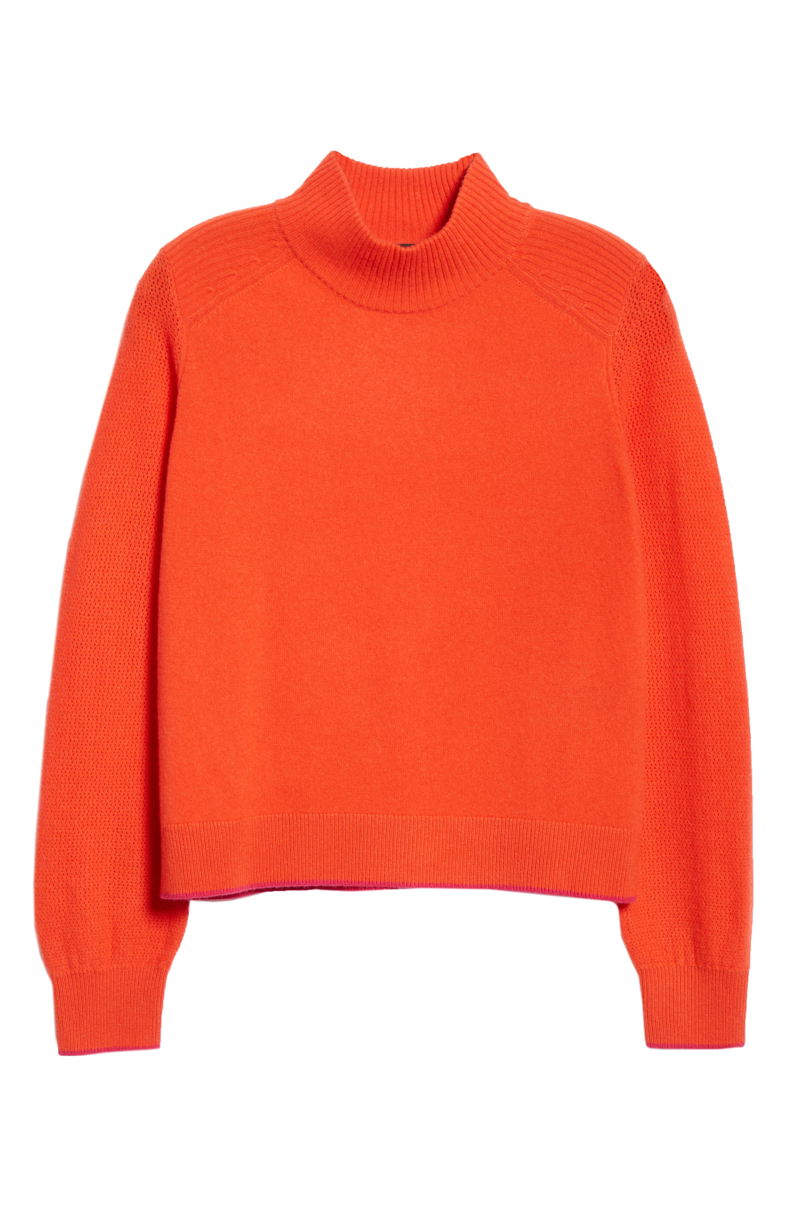 Yorke Cashmere Sweater,                             Alternate thumbnail 6, color,                             RED