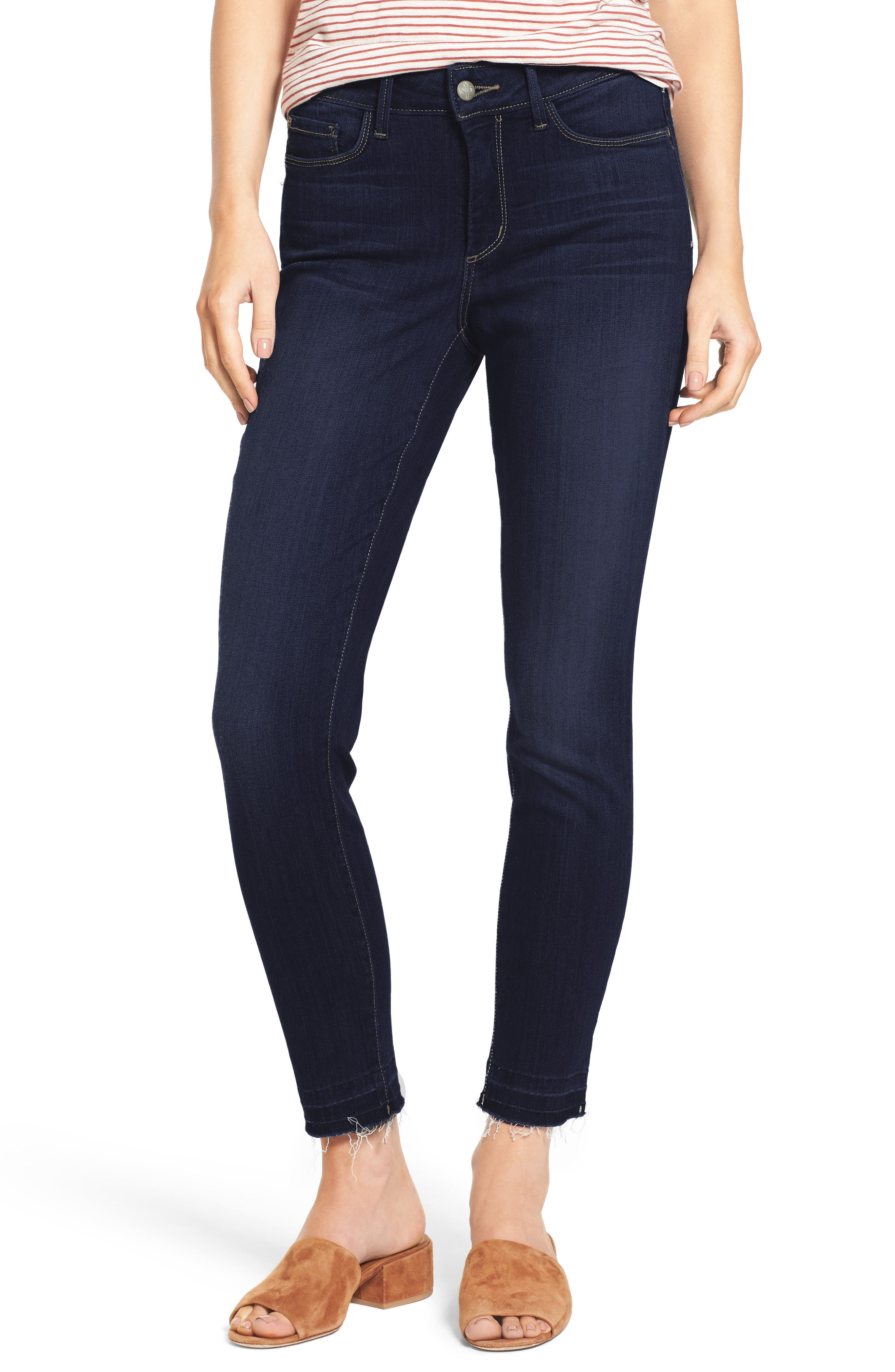 Ami Release Hem Stretch Skinny Jeans,                             Main thumbnail 1, color,                             464