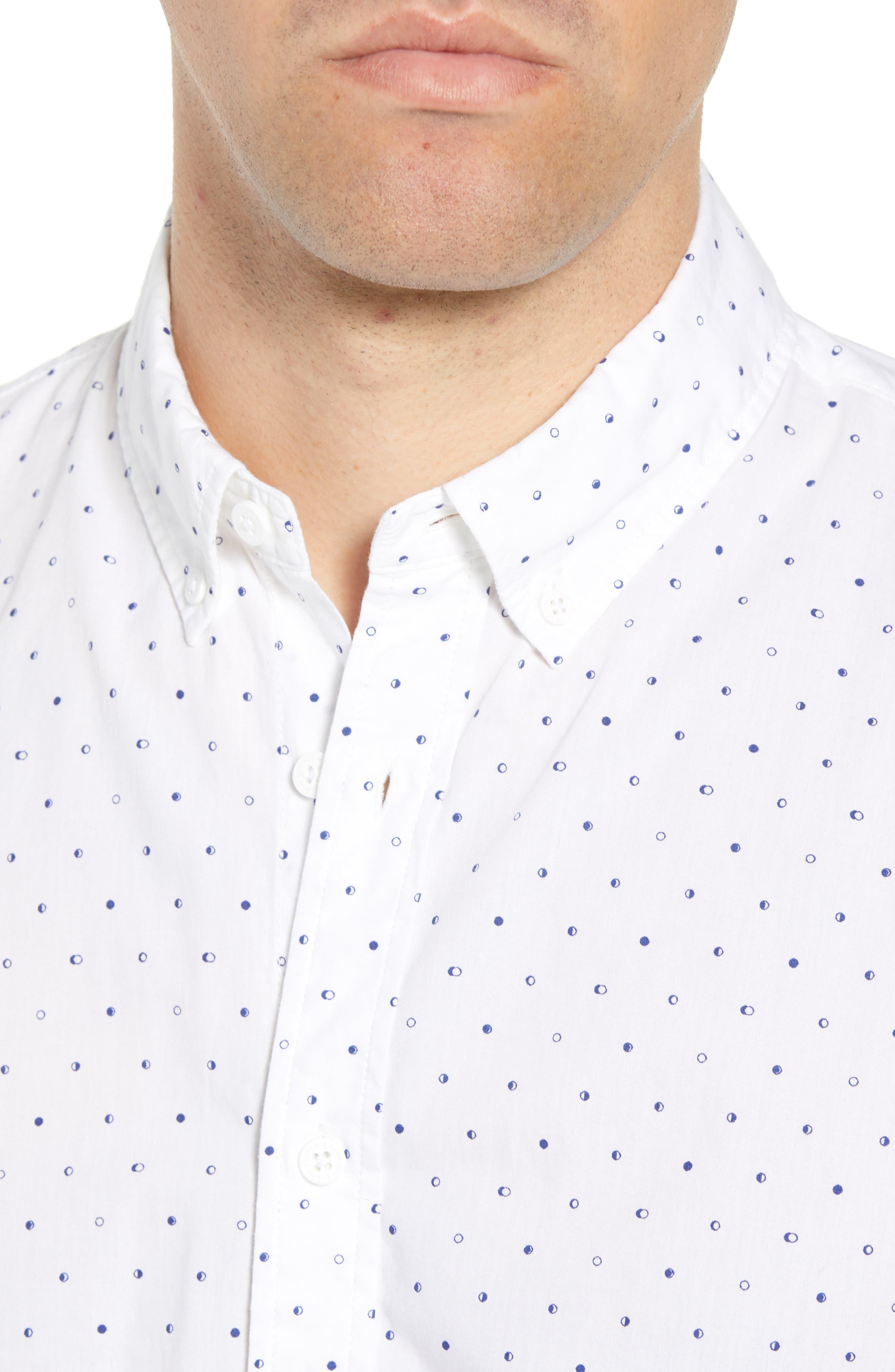 Amsterdams Blauw Simple Light Print Sport Shirt,                             Alternate thumbnail 4, color,                             110