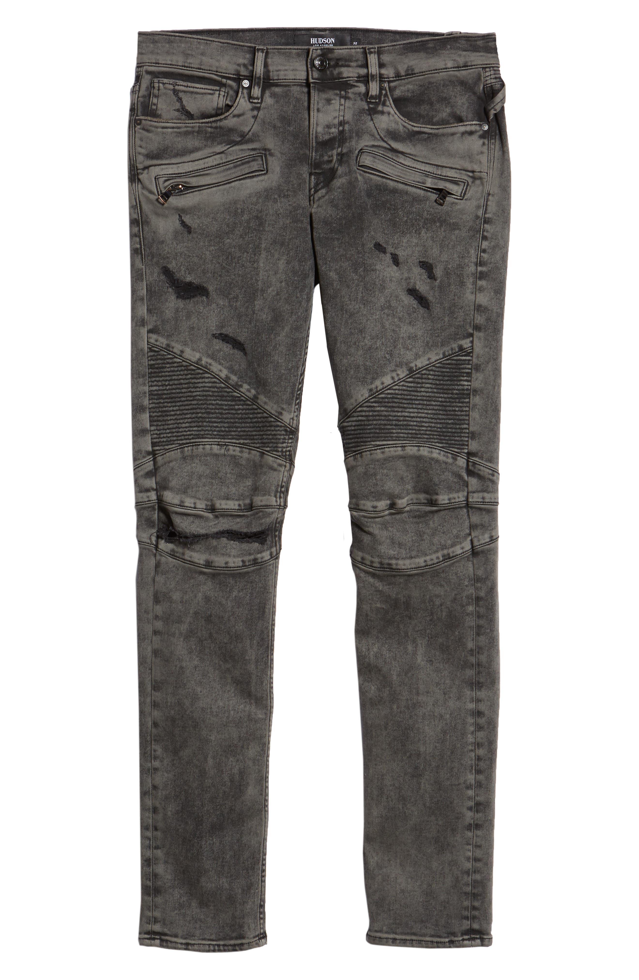 Blinder Biker Skinny Fit Jeans,                             Alternate thumbnail 6, color,                             FADE GRAPHITE