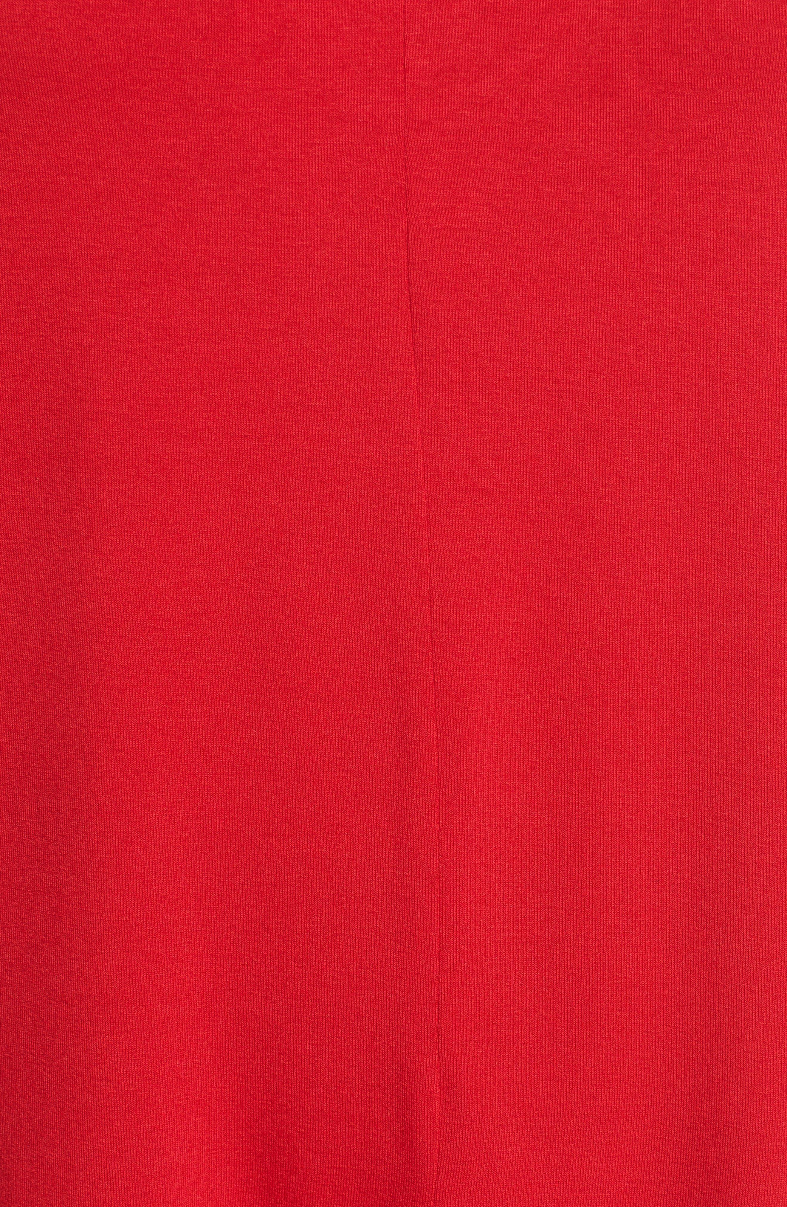 Sleeveless V-Neck Top,                             Alternate thumbnail 6, color,                             RADIANT RED