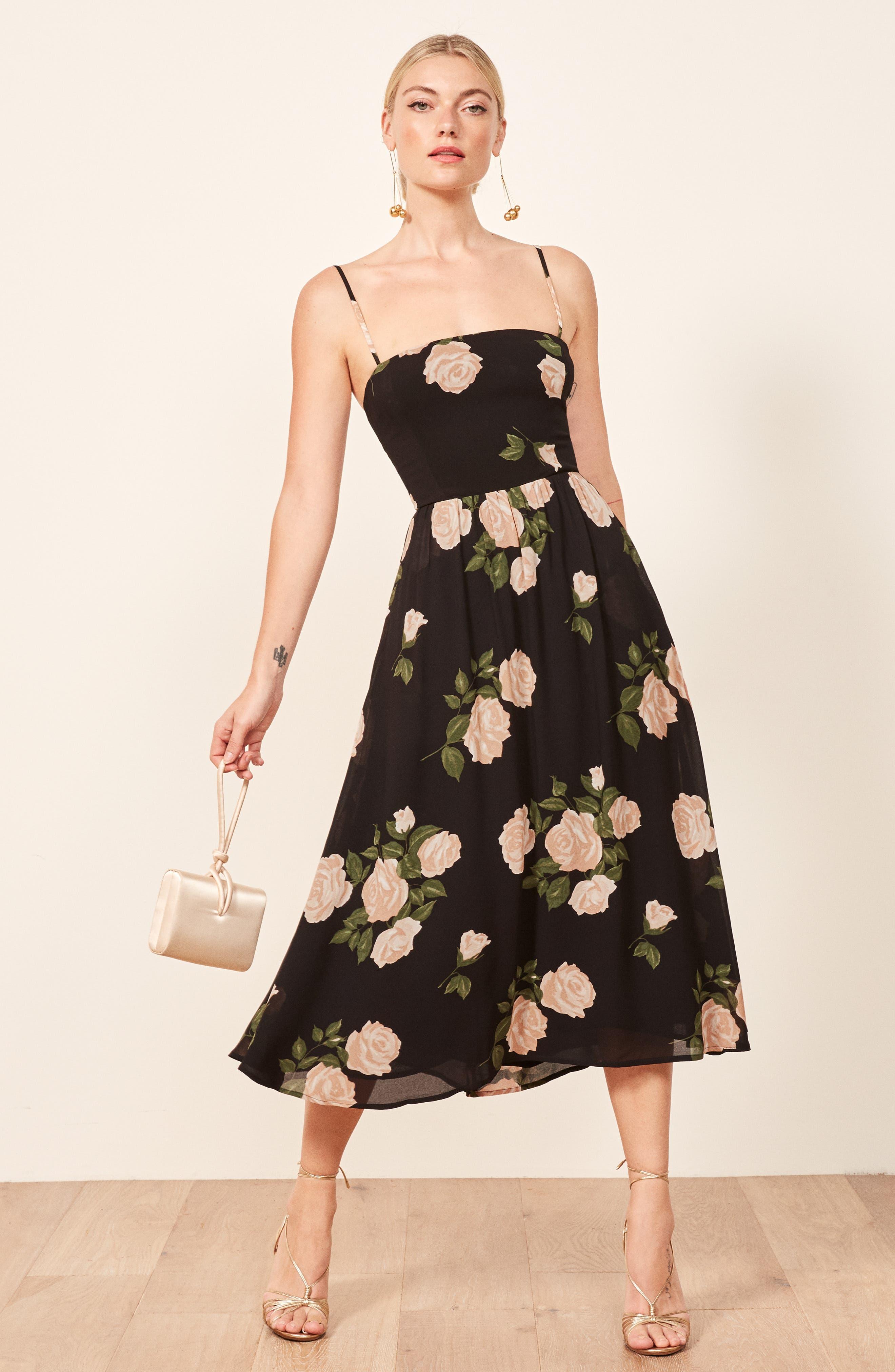 Rosehip Fit & Flare Dress,                             Alternate thumbnail 2, color,                             VENUS