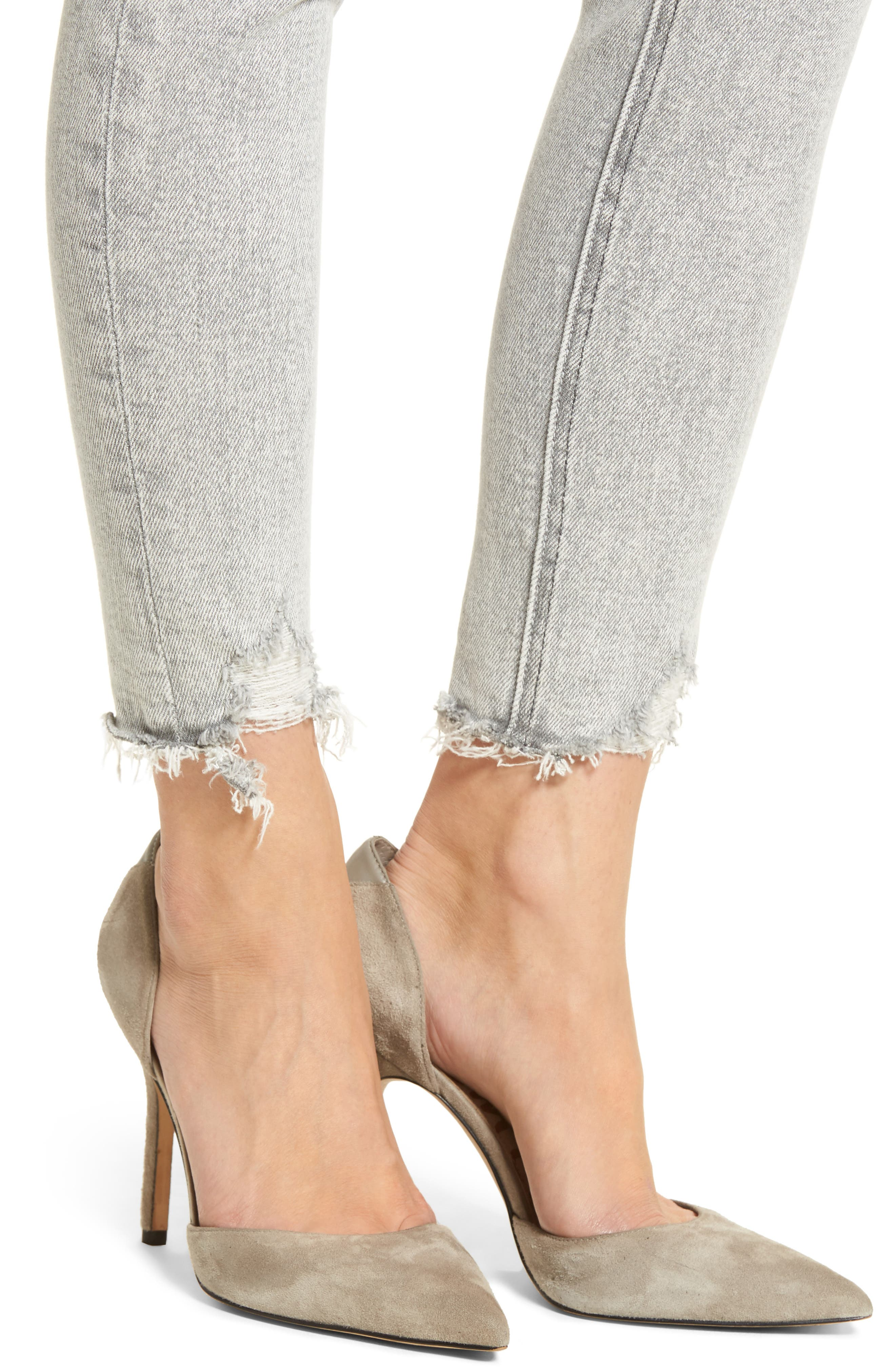 The Stiletto High Waist Ankle Skinny Jeans,                             Alternate thumbnail 4, color,