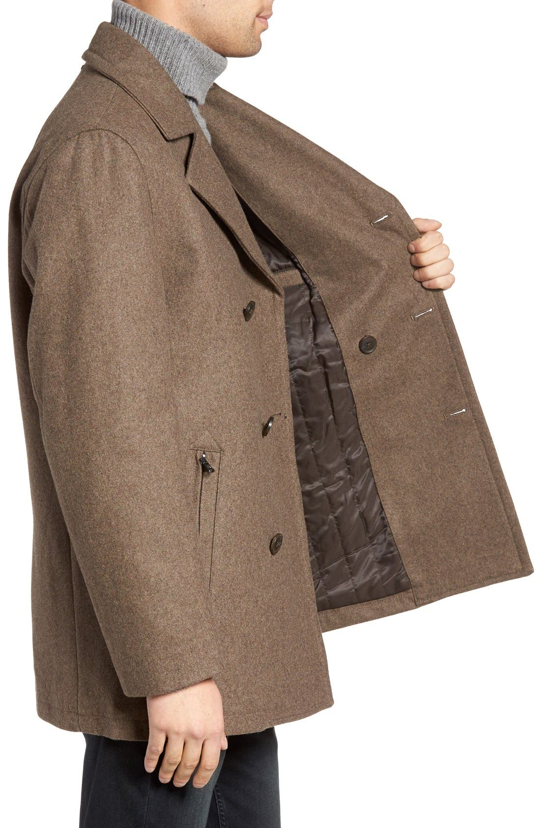 Wool Blend Double Breasted Peacoat,                             Alternate thumbnail 42, color,