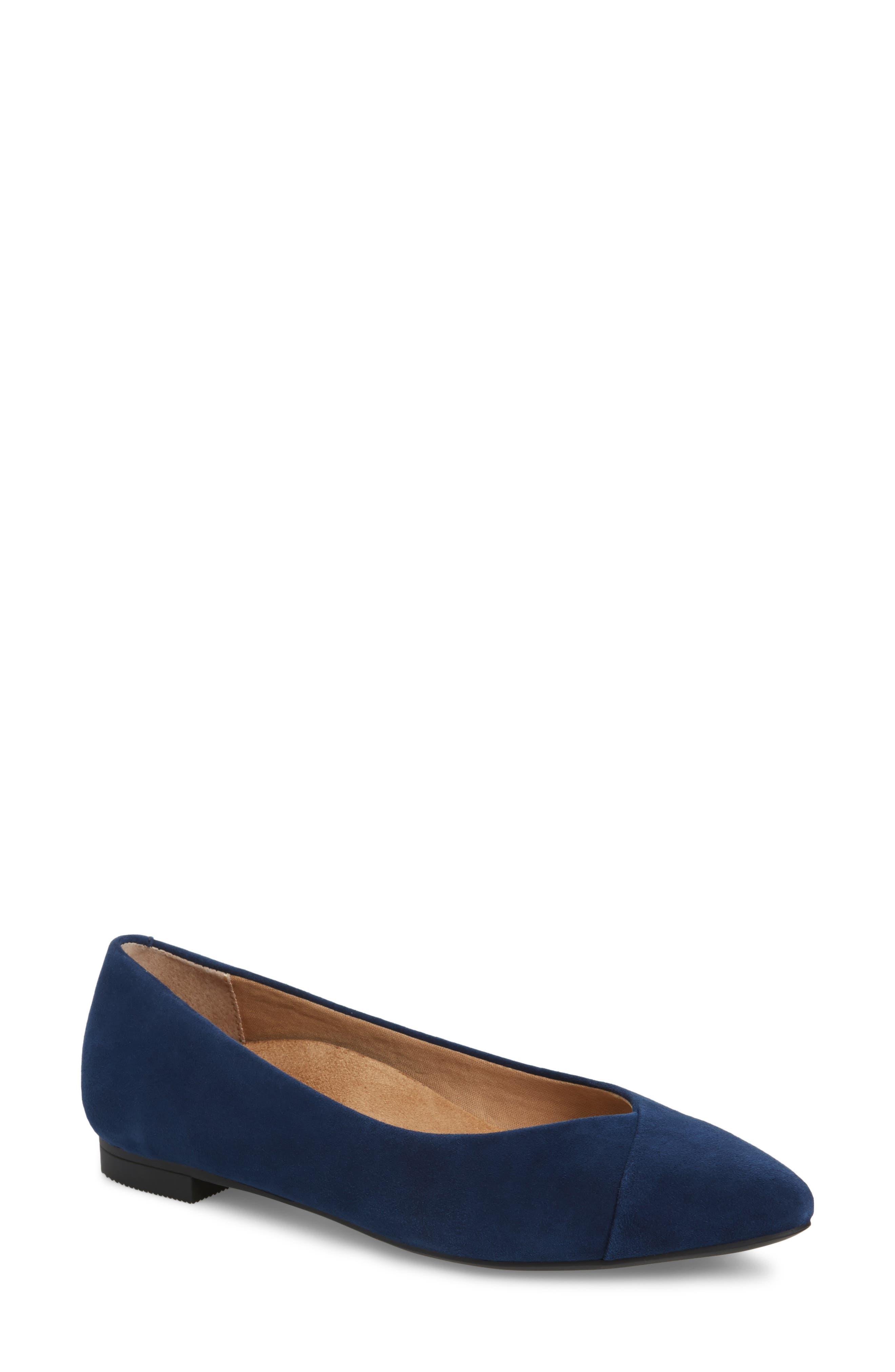 'Caballo' Pointy Toe Flat,                         Main,                         color, 410
