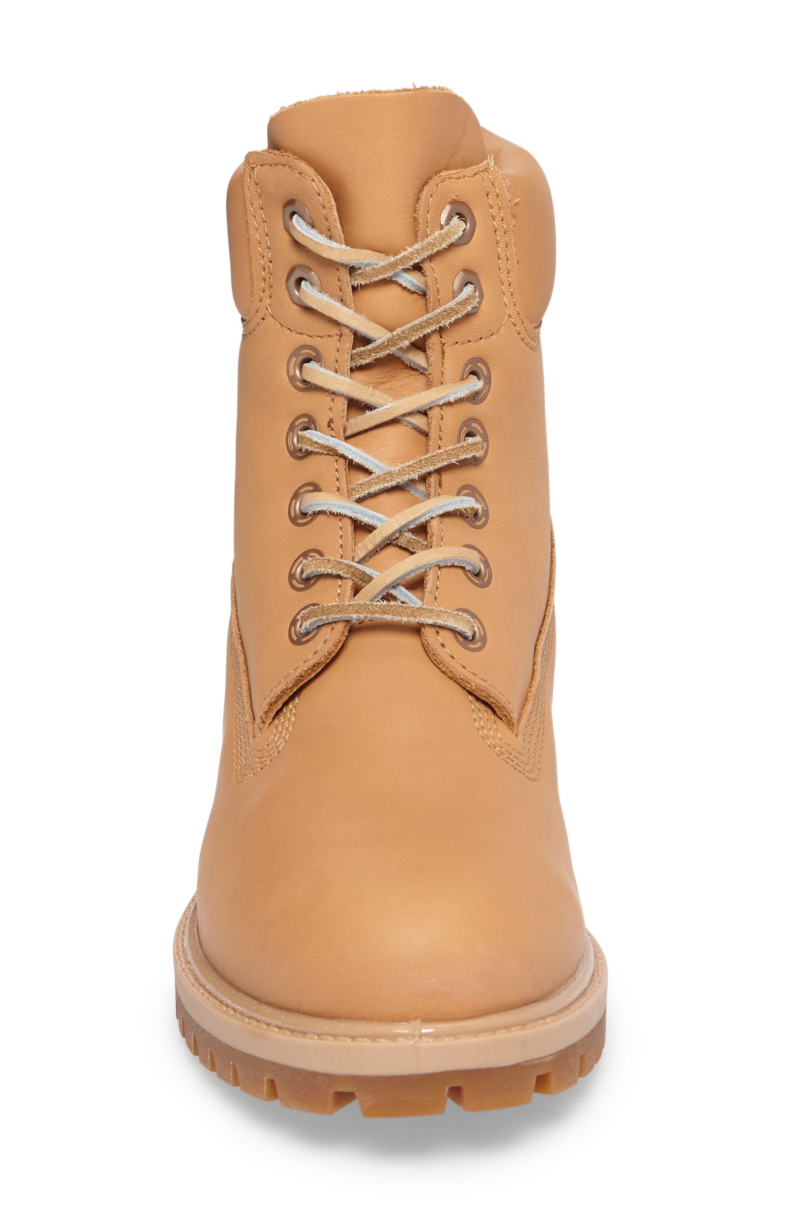 Premium Waterproof Plain Toe Boot,                             Alternate thumbnail 4, color,                             204