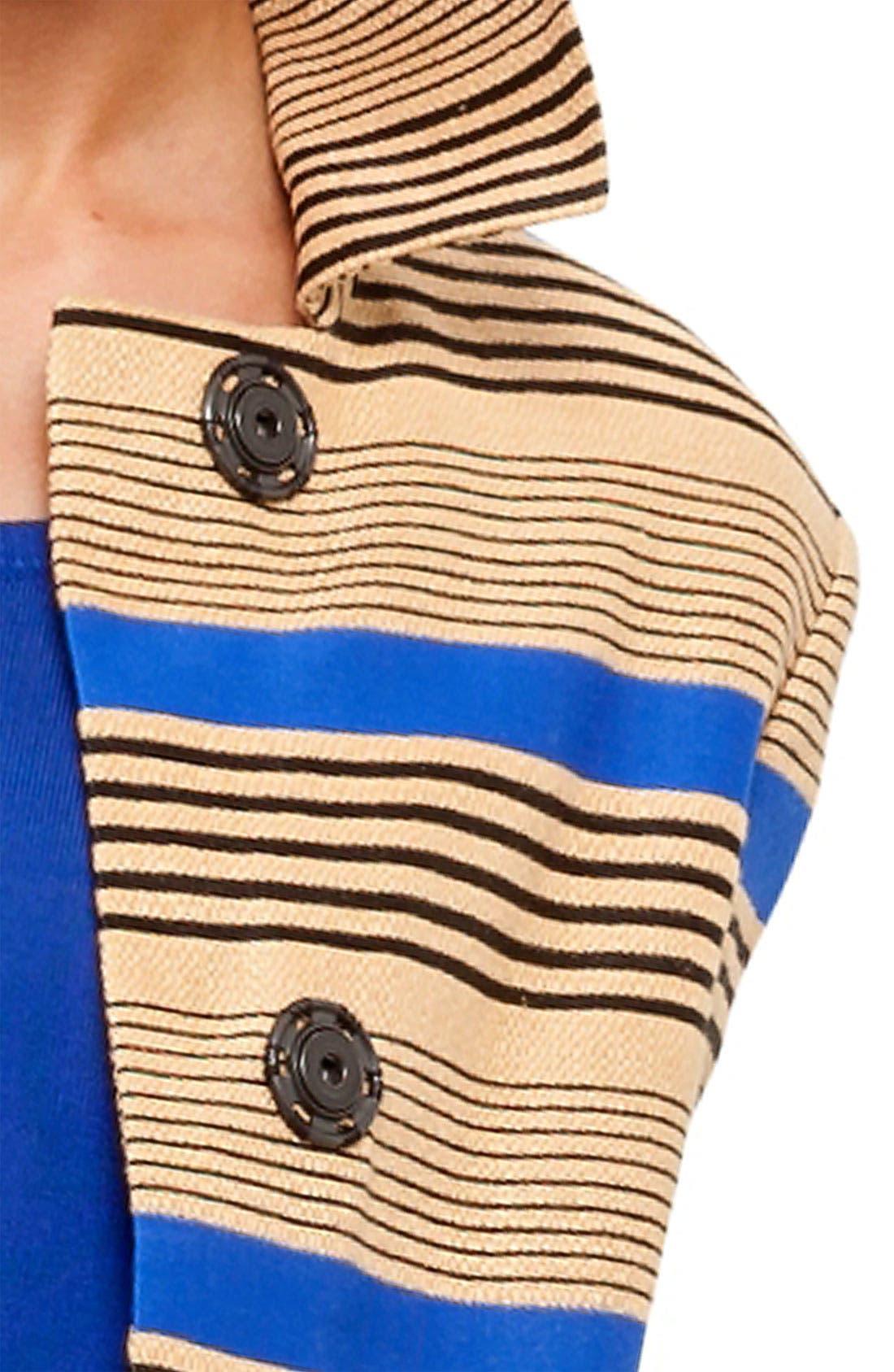Stripe Linen Blend Jacket,                             Alternate thumbnail 2, color,                             701
