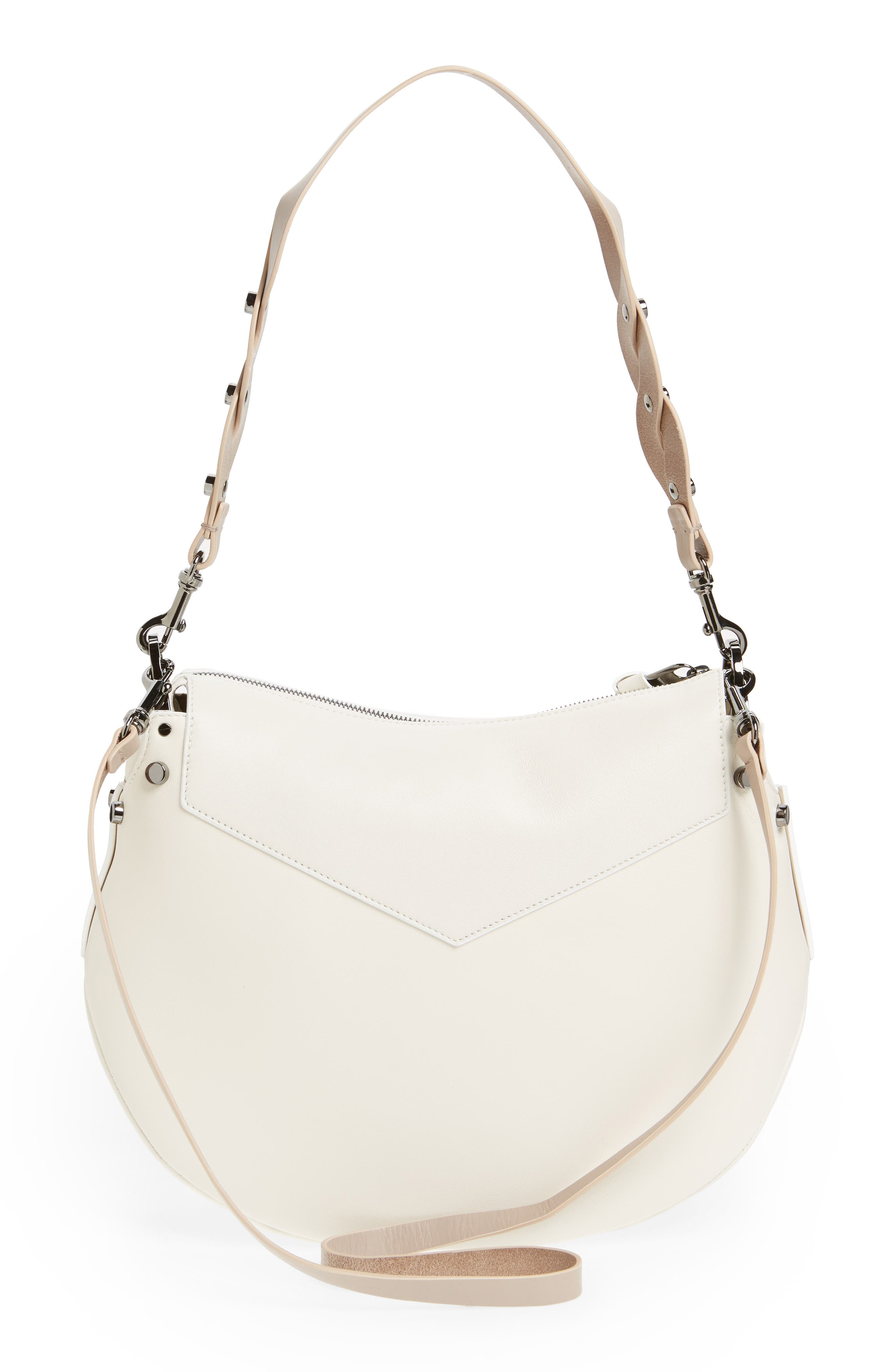 Artie Nappa Leather Hobo Bag,                             Alternate thumbnail 6, color,