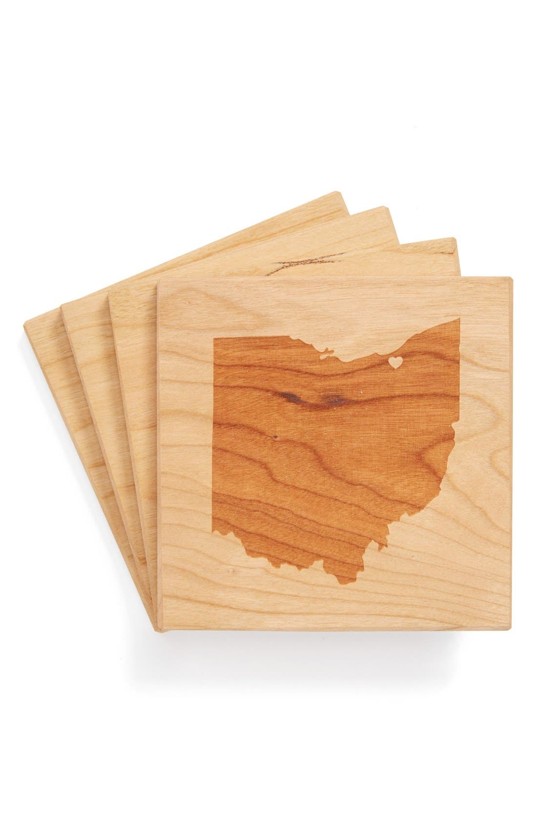 'State Silhouette' Coasters,                             Main thumbnail 25, color,