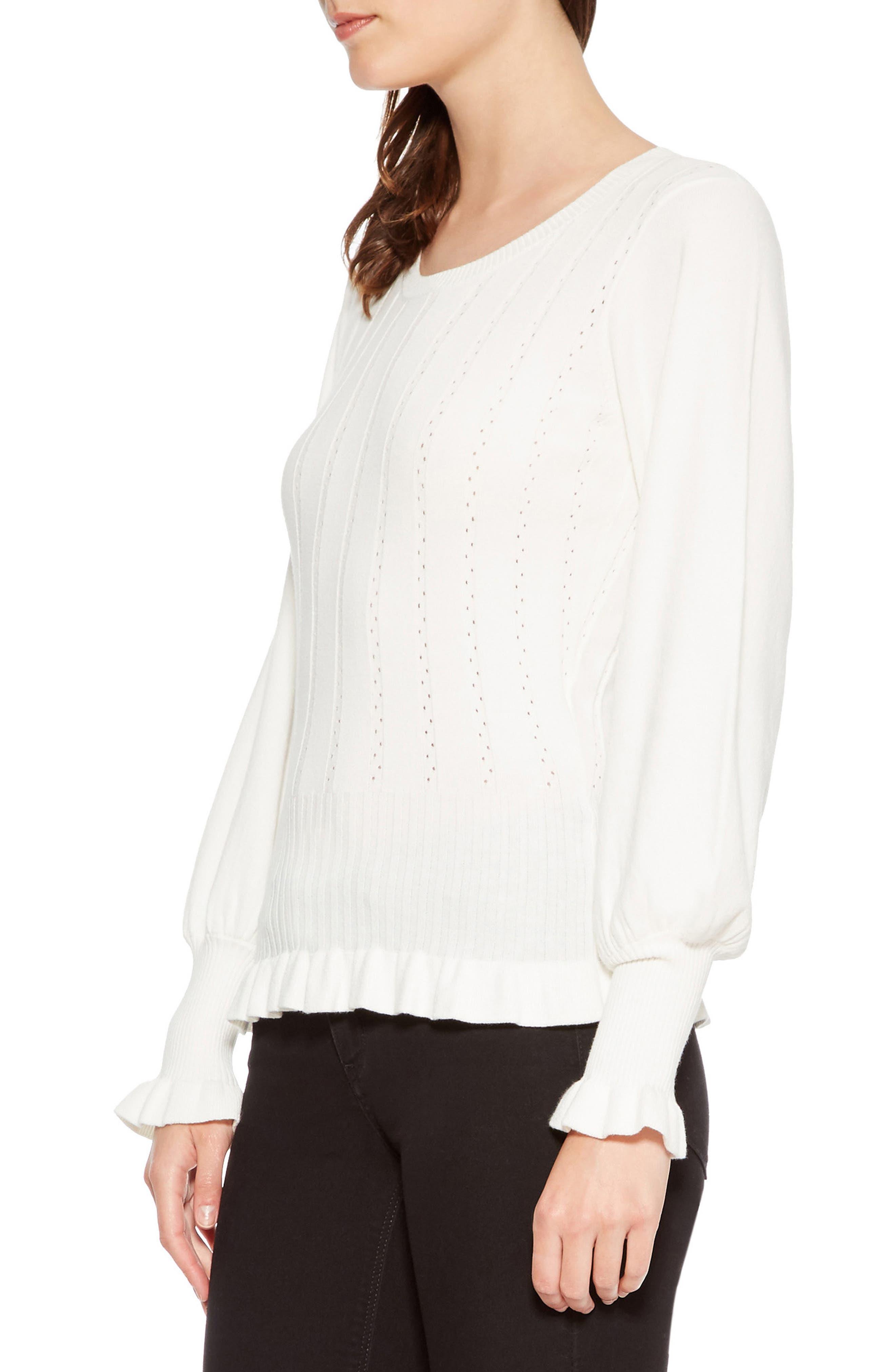 PARKER,                             Henri Blouson Sleeve Sweater,                             Alternate thumbnail 3, color,                             900