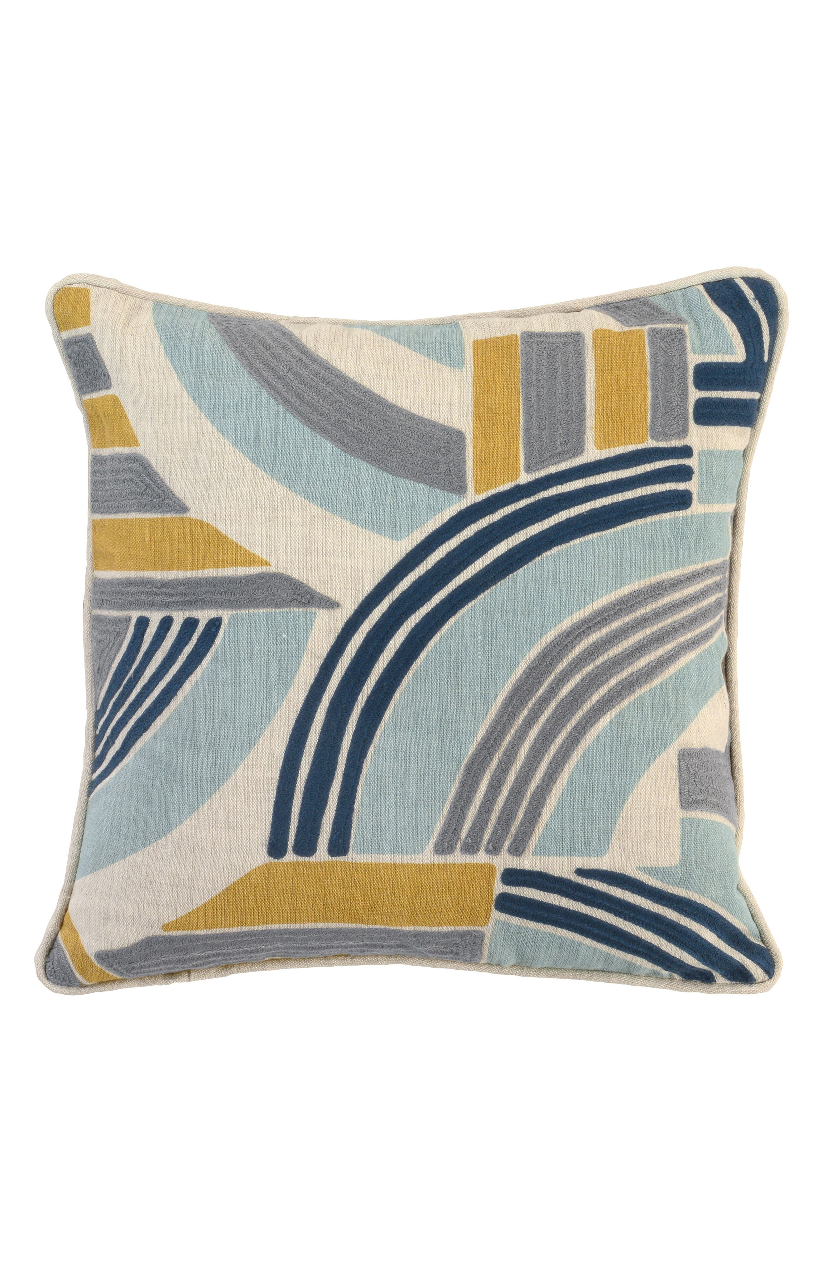 Celo Tidal Accent Pillow,                             Main thumbnail 1, color,                             SEAGLASS/ MULTI