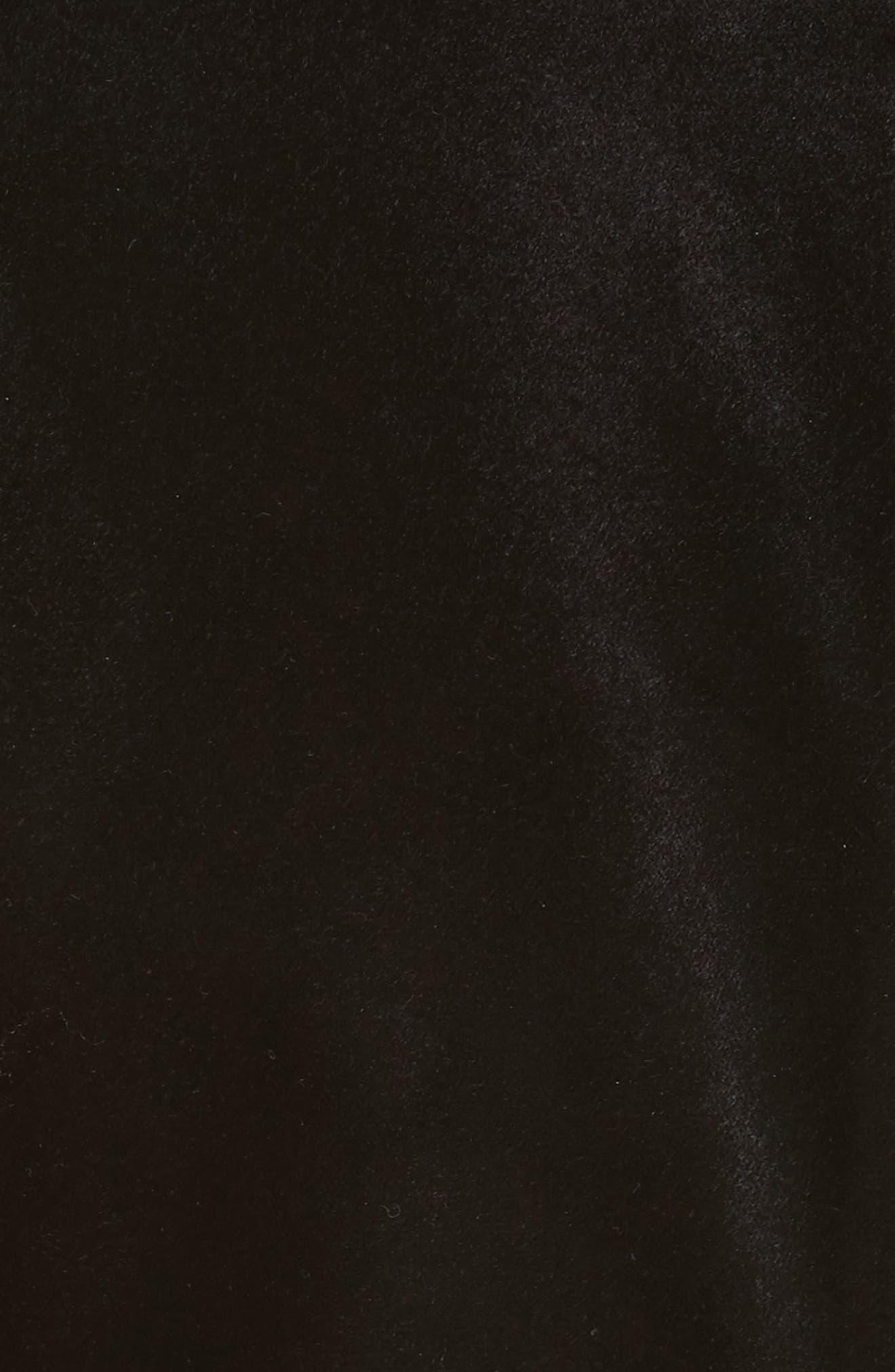 Queen Bee Ruffle Waist Dress,                             Alternate thumbnail 5, color,                             001