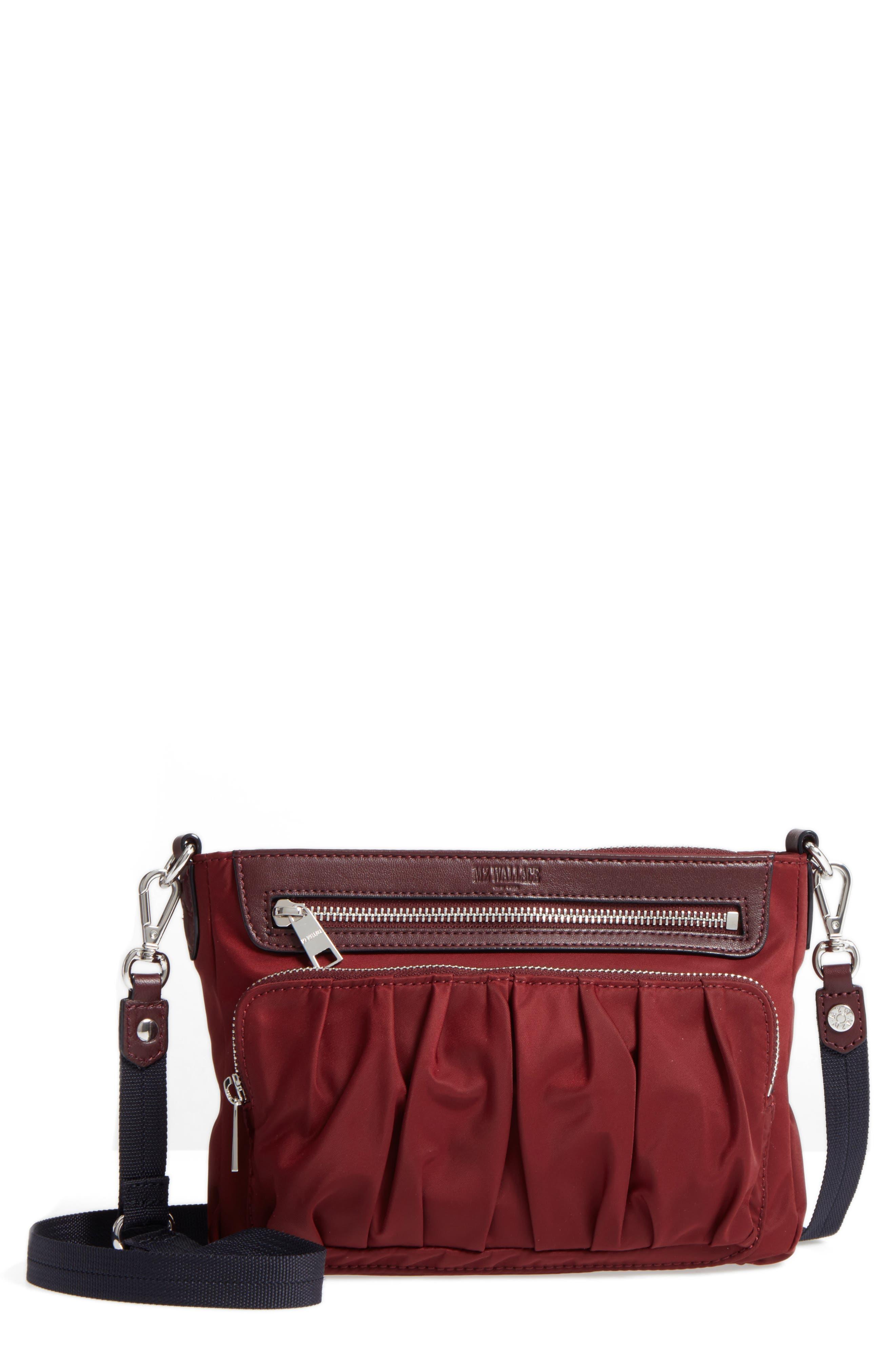 Abbey Bedford Nylon Crossbody Bag,                             Main thumbnail 1, color,                             618