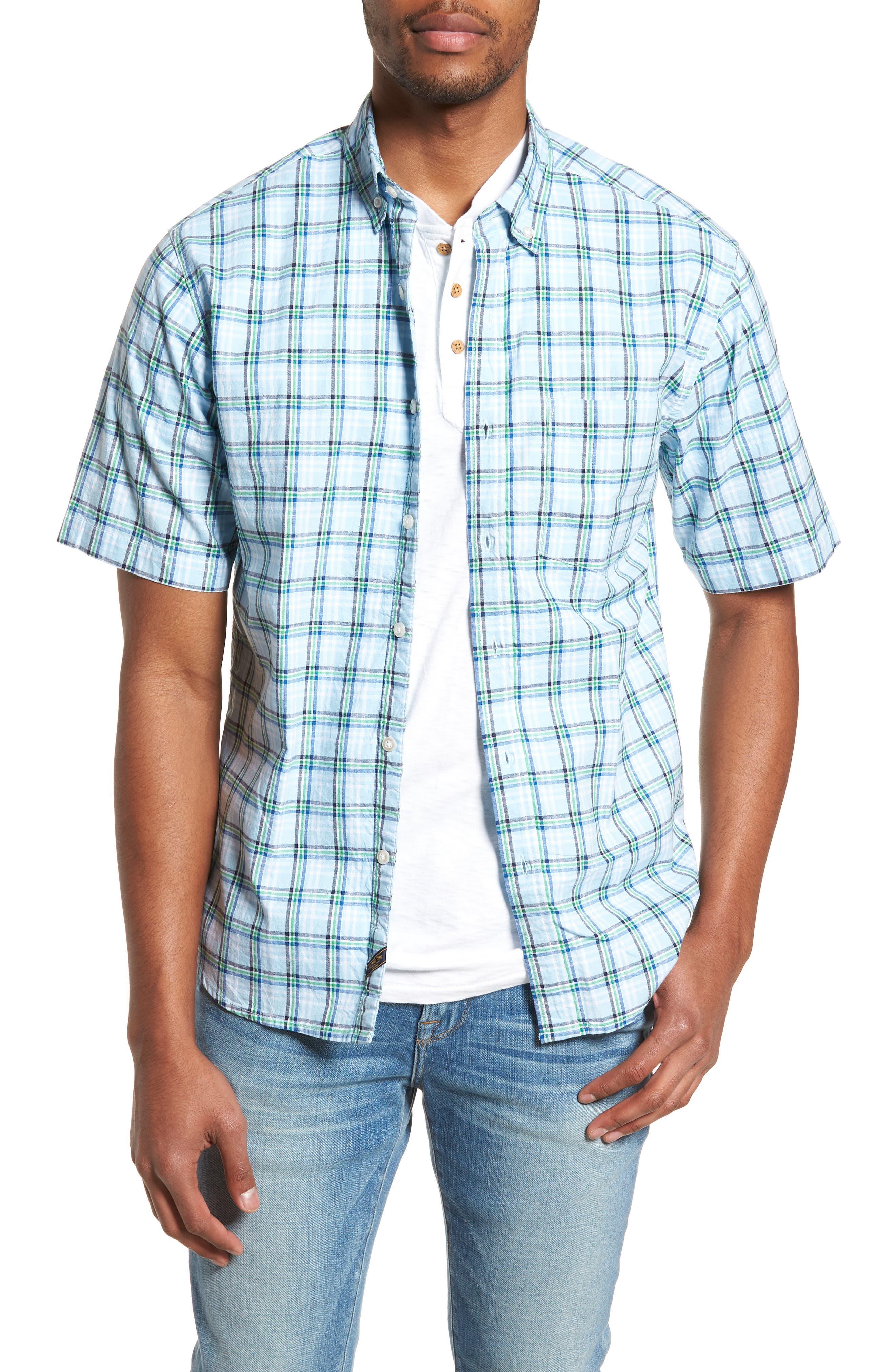 Plaid Oxford Sport Shirt,                         Main,                         color, 400