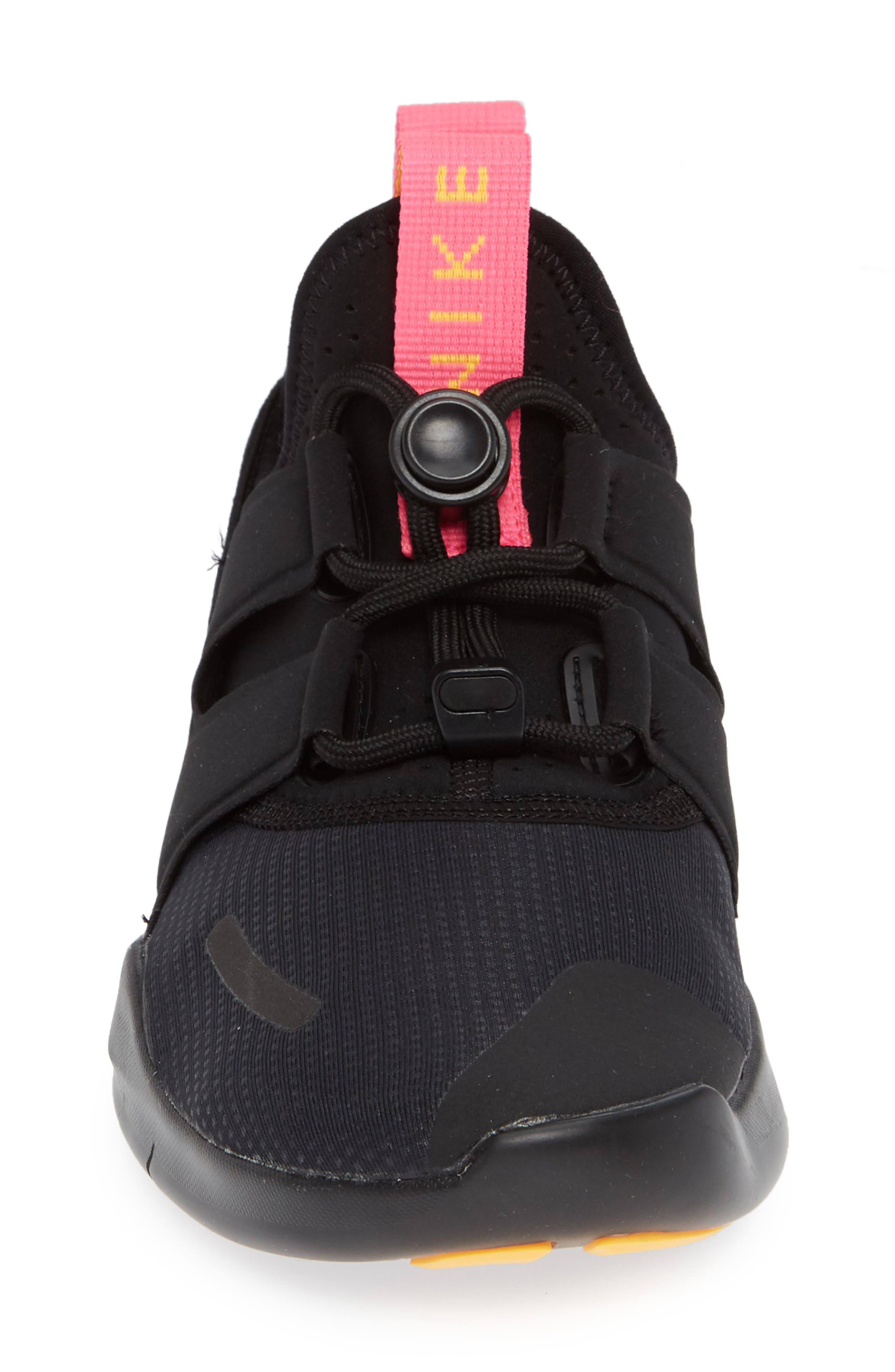 Free RN Commuter 2018 Running Shoe,                             Alternate thumbnail 4, color,                             BLACK/ PINK BLAST/ ORANGE