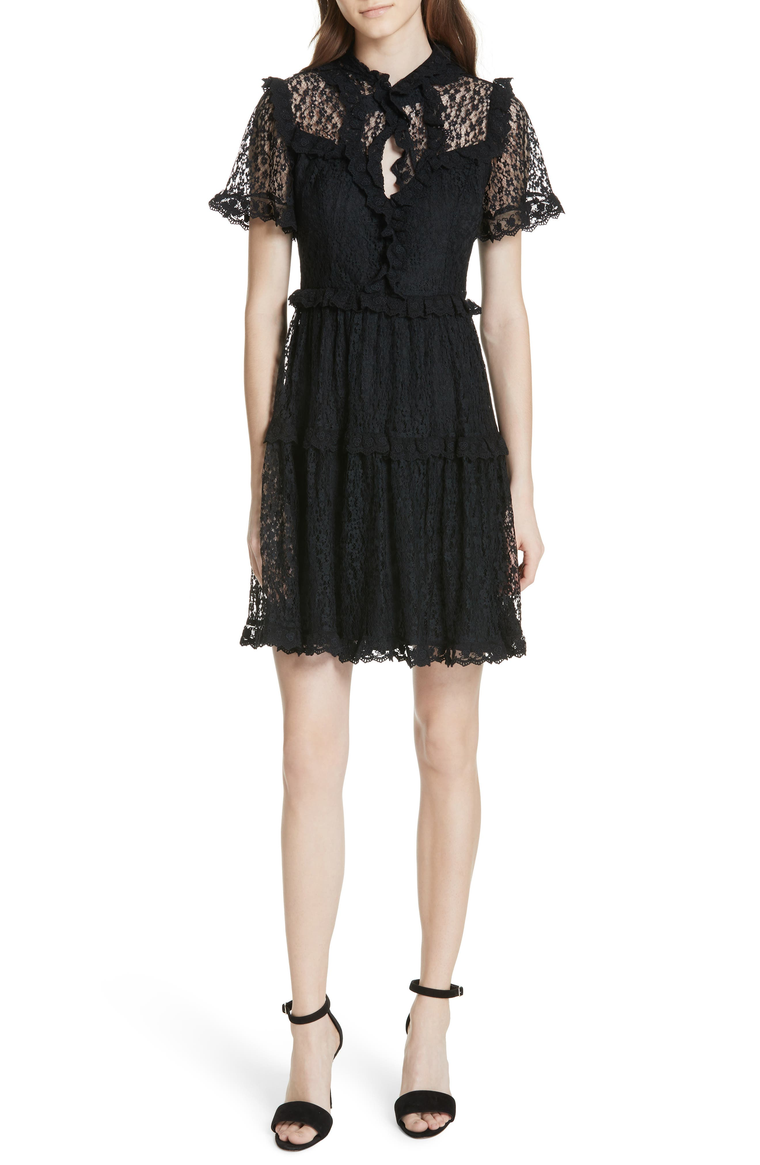 Daisy Lace Dress,                             Main thumbnail 1, color,                             001