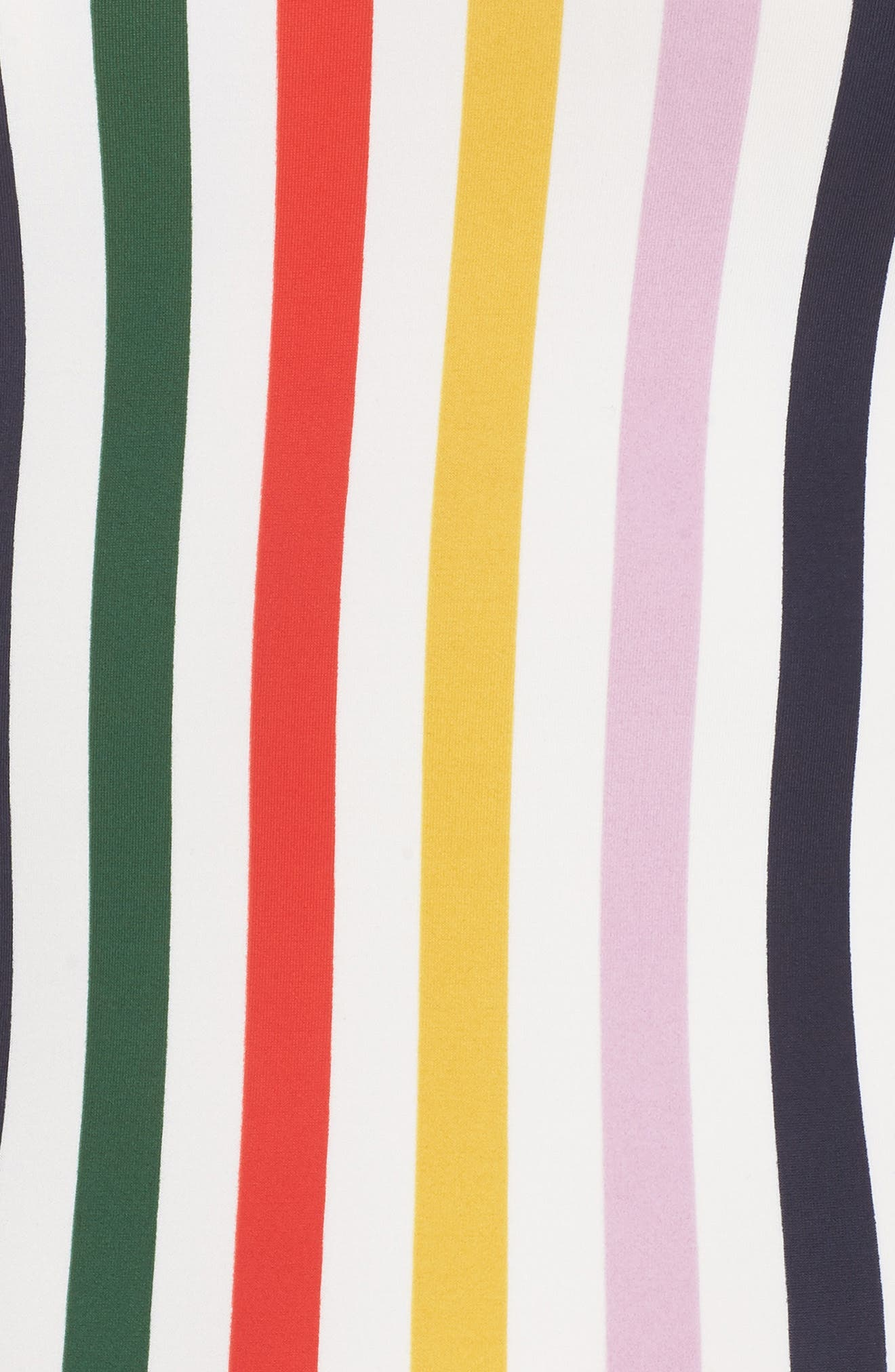 J.CREW,                             Holiday Stripe Tie Back One-Piece Swimsuit,                             Alternate thumbnail 5, color,                             IVORY RICH GOLD MULTI