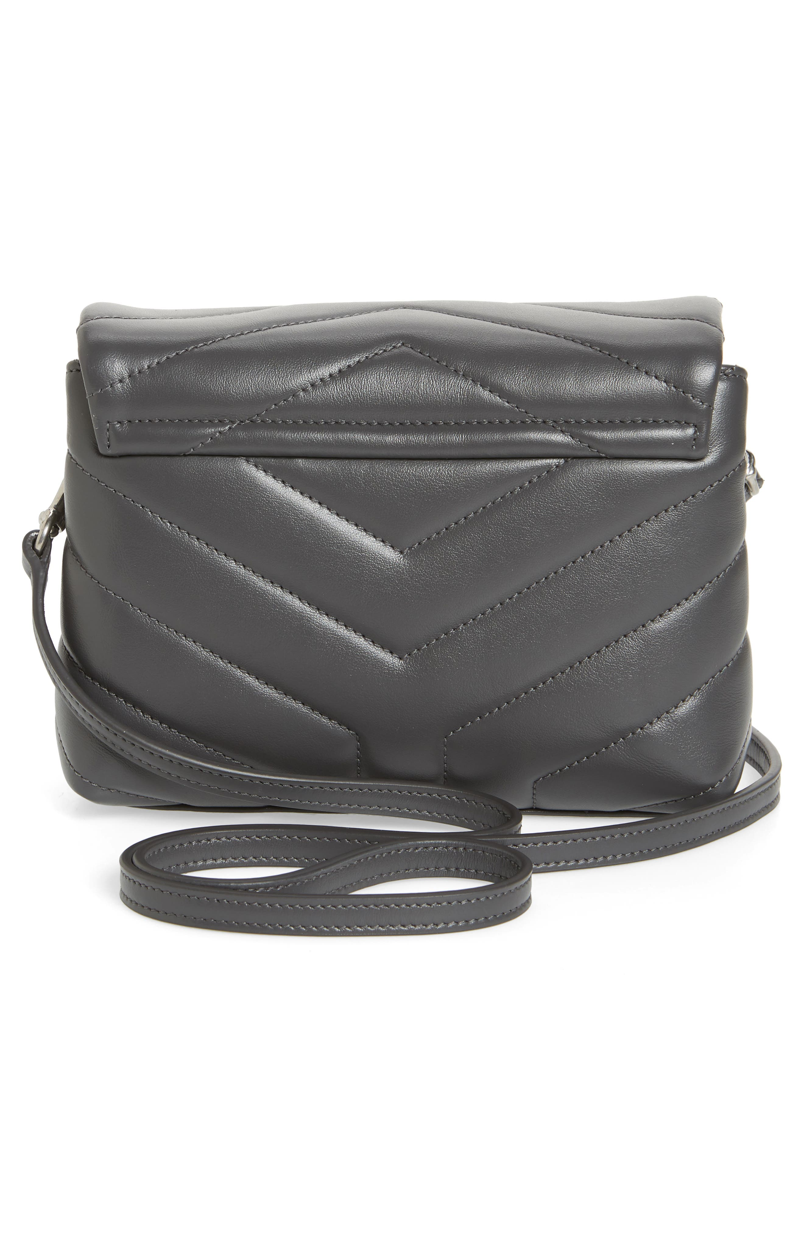 Toy Loulou Calfskin Leather Crossbody Bag,                             Alternate thumbnail 3, color,                             STORM