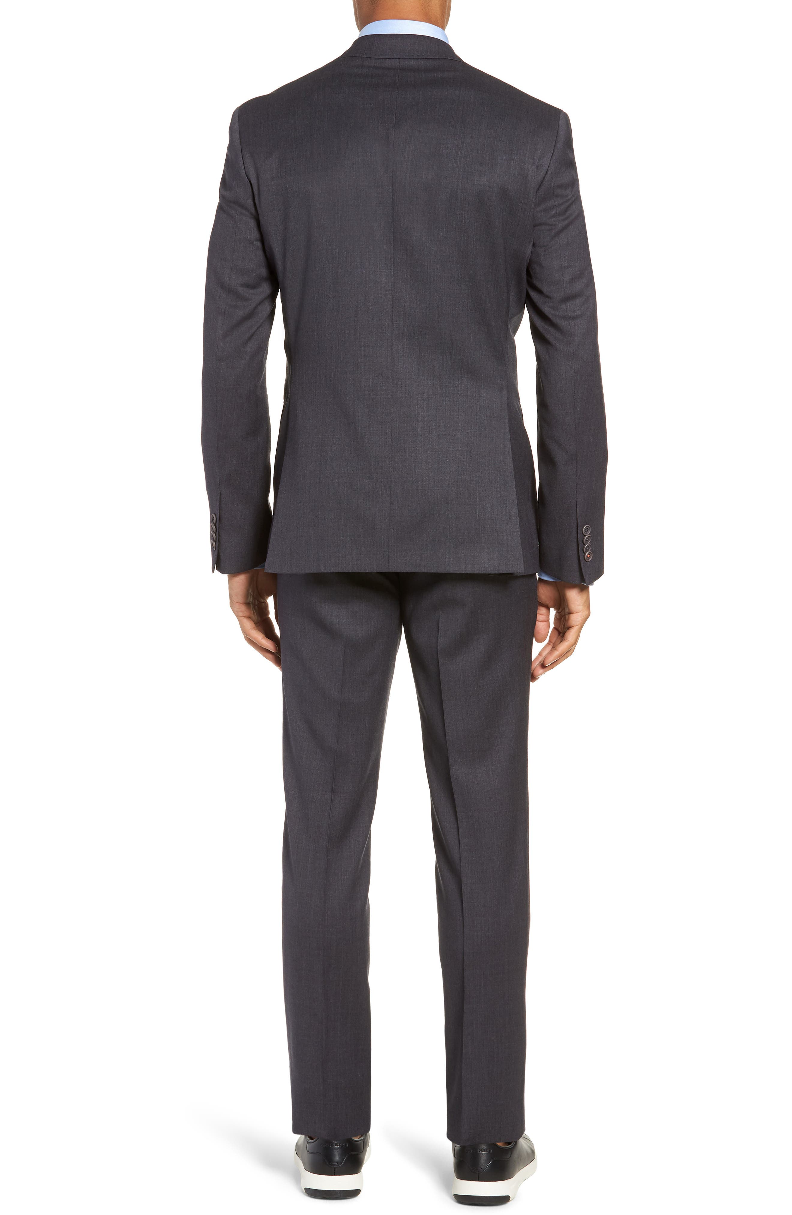 Rove Extra Slim Fit Solid Wool Suit,                             Alternate thumbnail 2, color,                             GREY