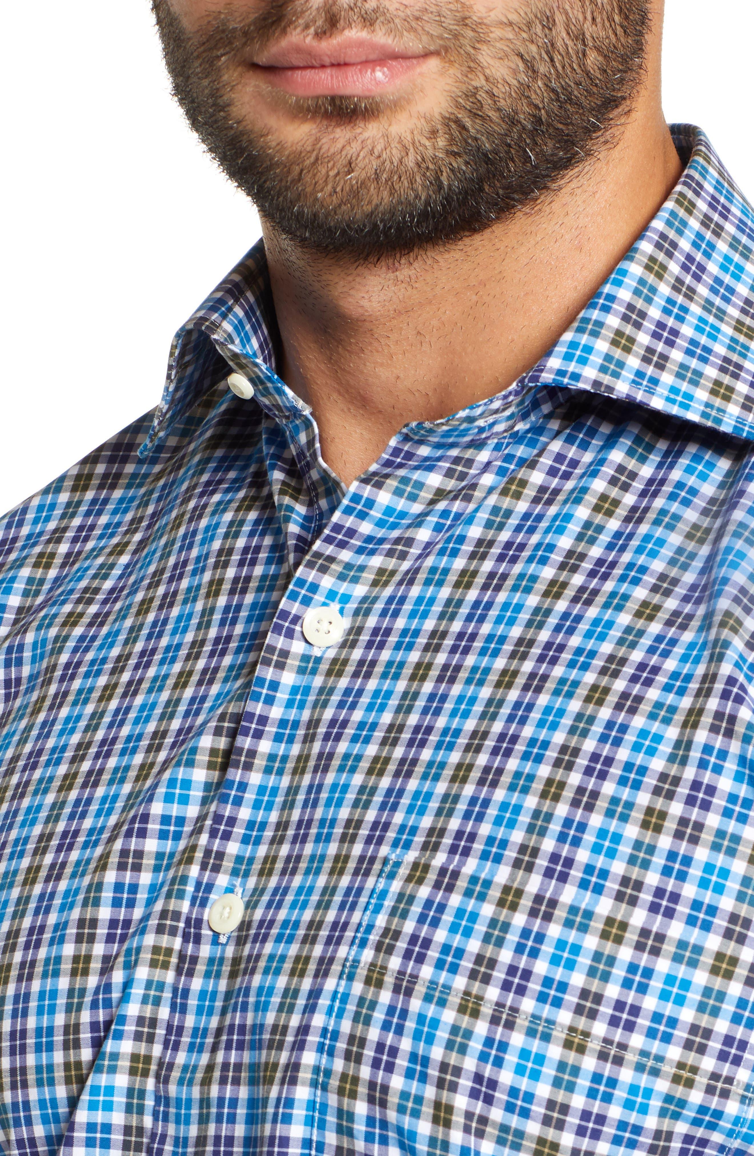 Crown Finish Salthill Check Regular Fit Sport Shirt,                             Alternate thumbnail 2, color,                             408