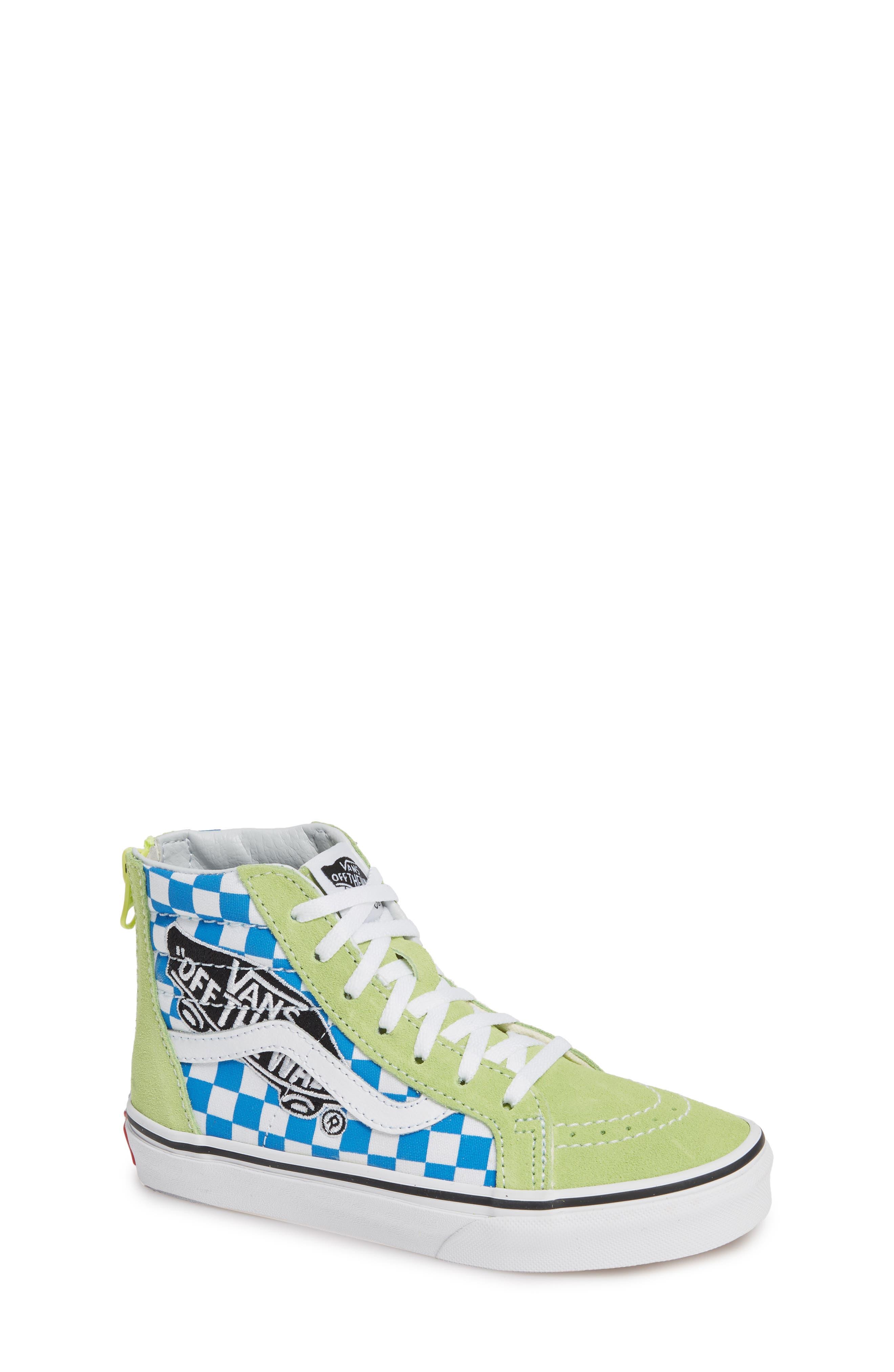 'Sk8-Hi' Sneaker,                             Main thumbnail 1, color,                             SHARP GREEN/ PINK LEMONADE