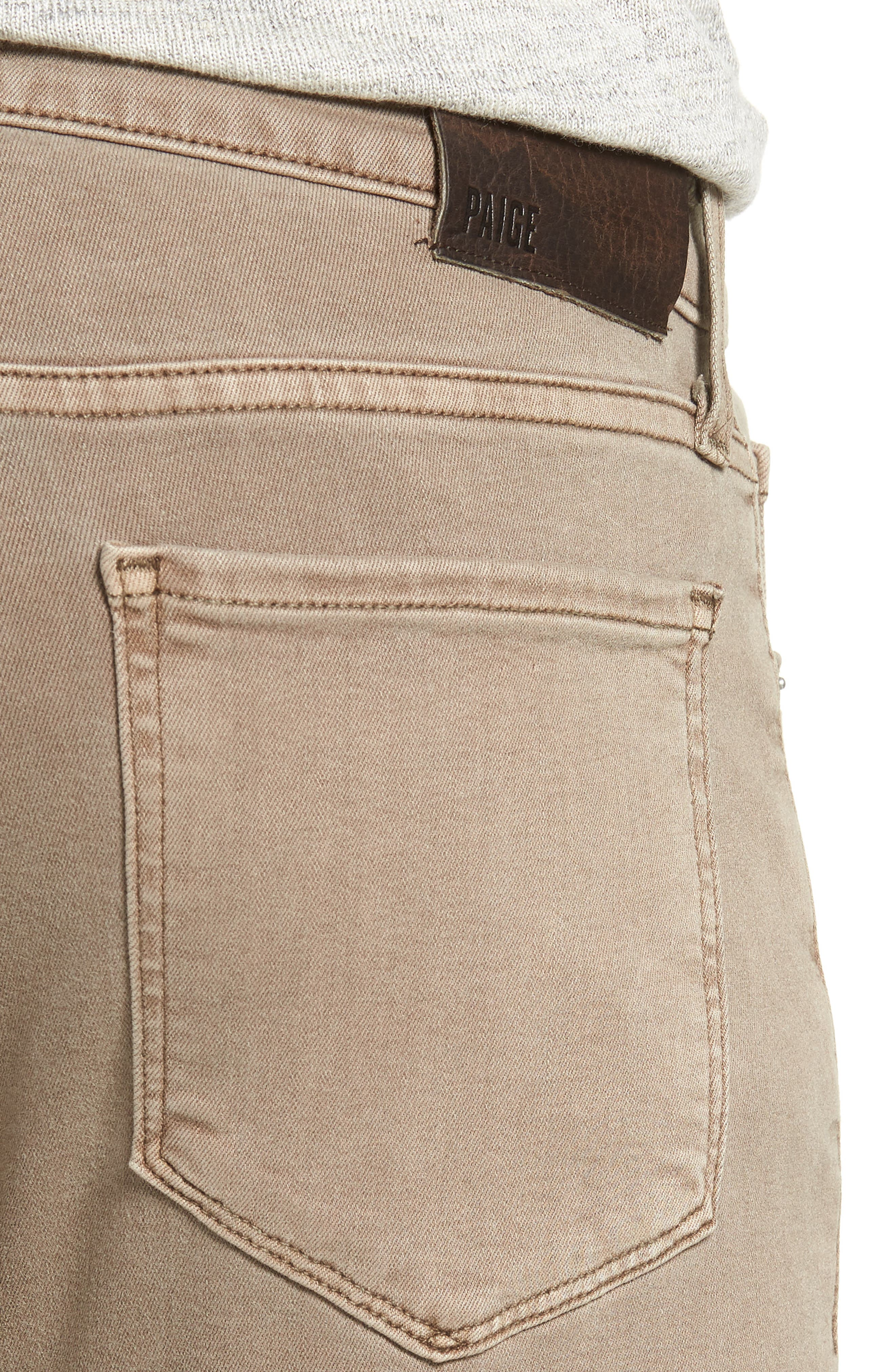 Transcend - Lennox Slim Fit Twill Pants,                             Alternate thumbnail 4, color,                             VINTAGE MUSHROOM