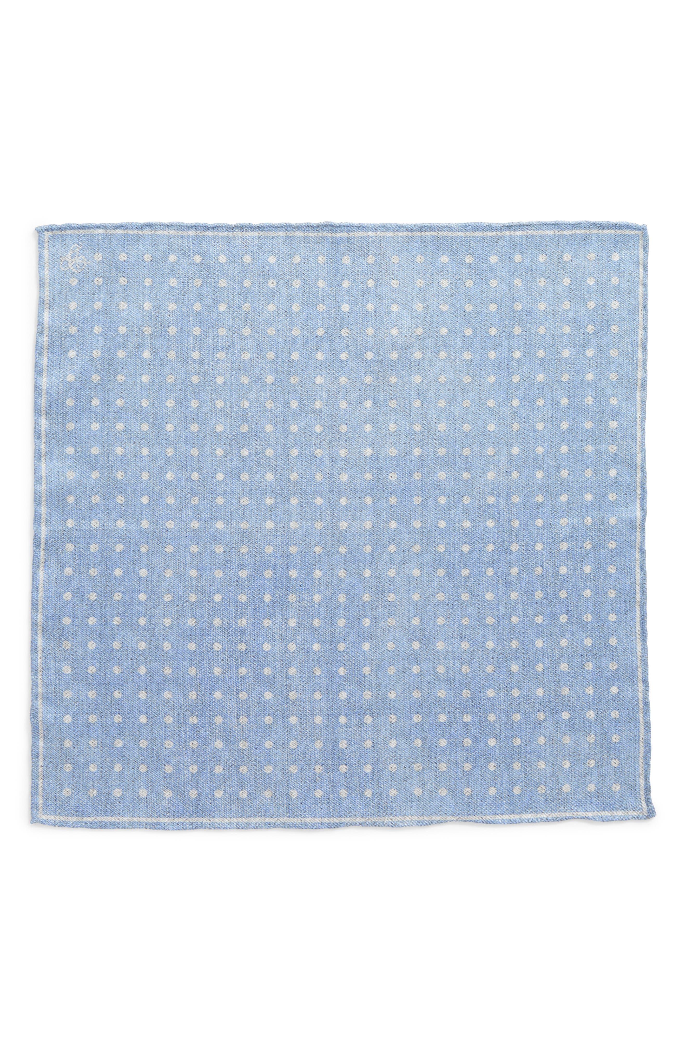 Dot Silk Pocket Square,                             Alternate thumbnail 6, color,