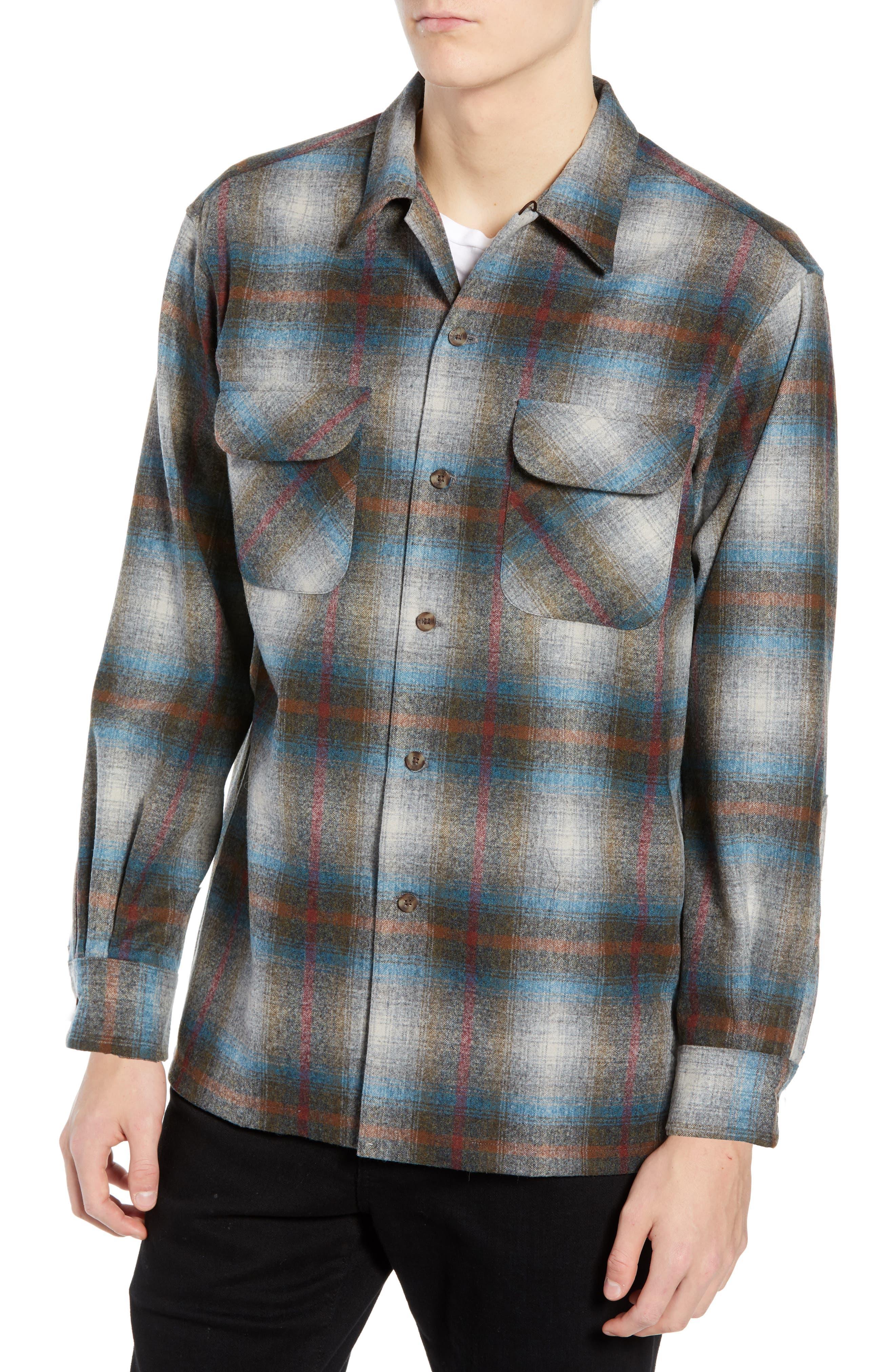 PENDLETON Board Wool Flannel Shirt in Multi Plaid