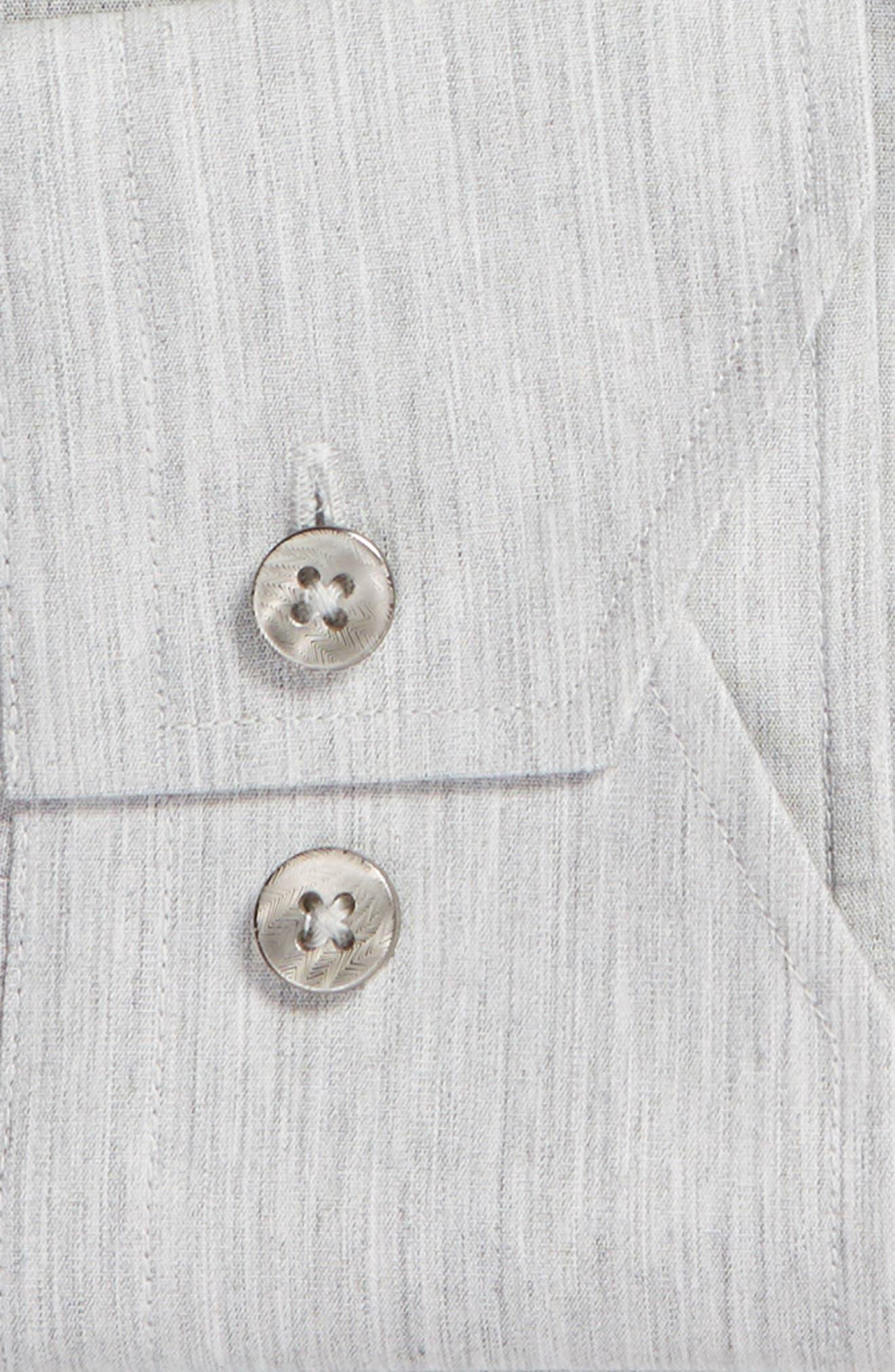 Trim Fit Solid Dress Shirt,                             Alternate thumbnail 6, color,                             050