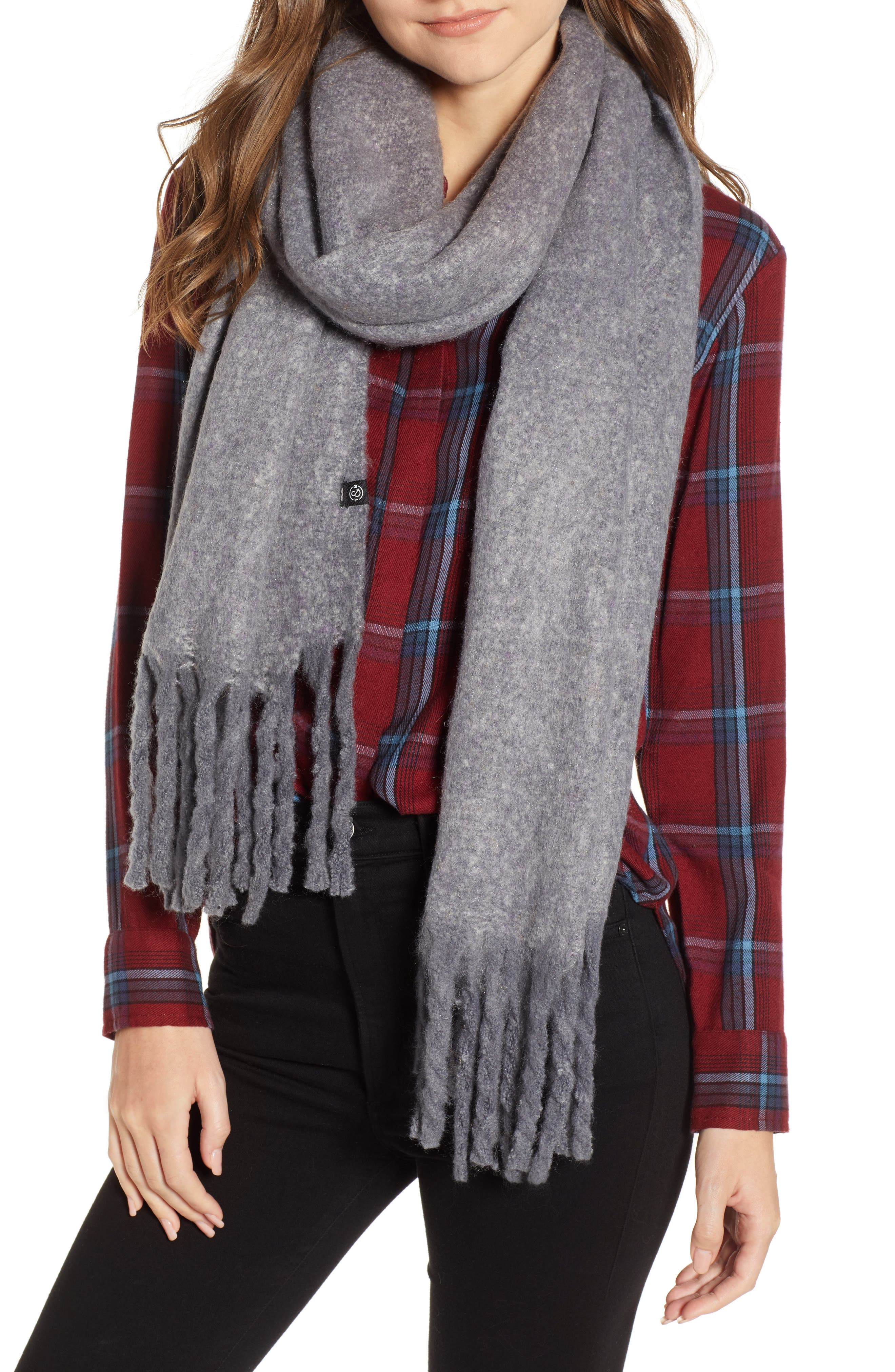 TREASURE & BOND Solid Brushed Wrap Scarf, Main, color, 020