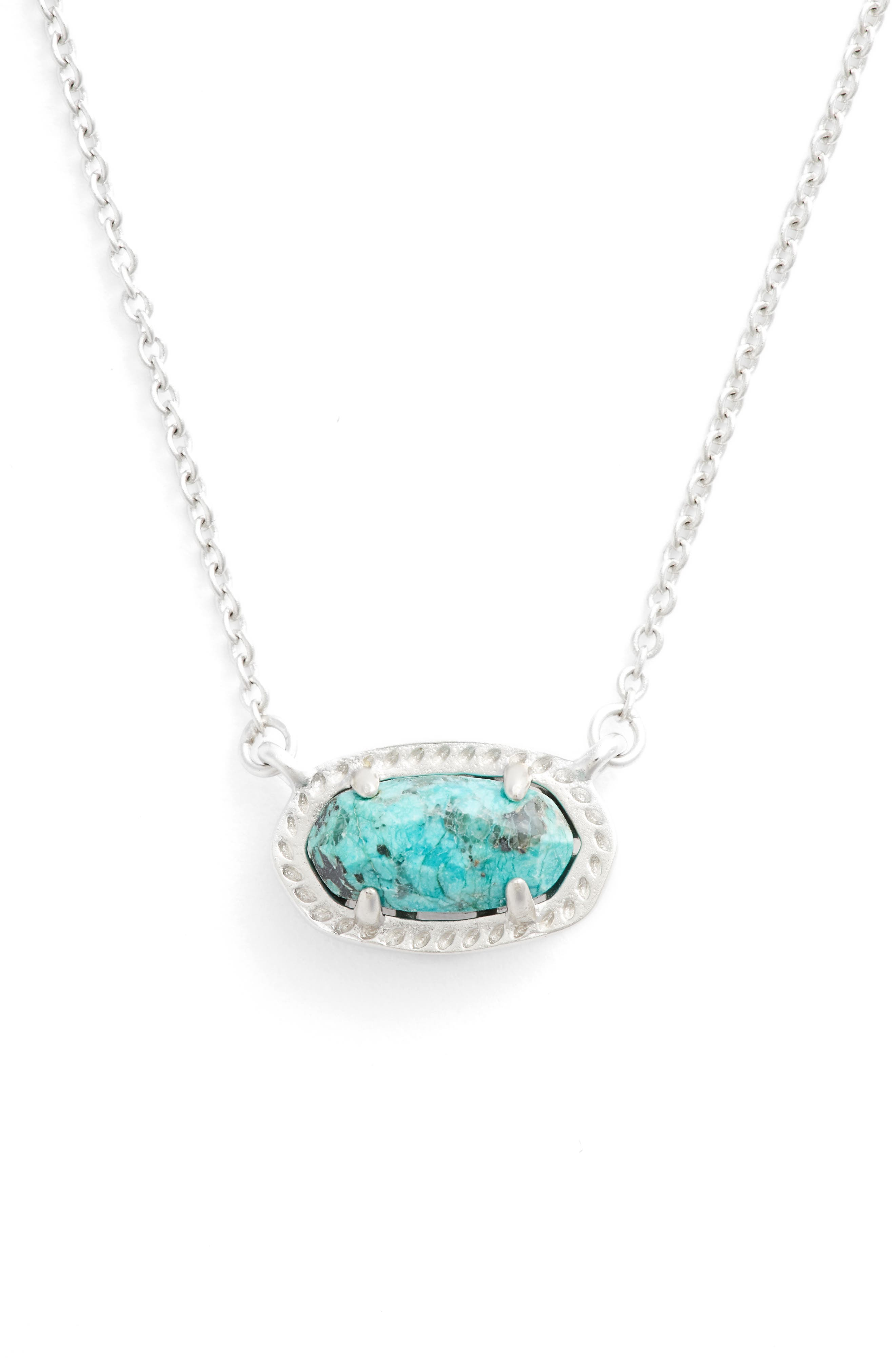 Ember Pendant Necklace,                             Main thumbnail 1, color,                             AFRICAN TURQUOISE/ SILVER