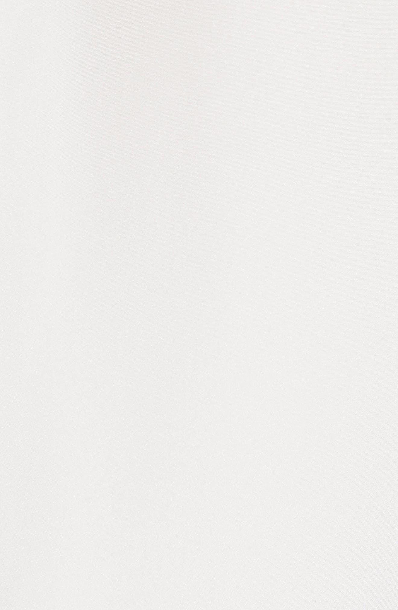 Lace Trim Silk Crepe Blouse,                             Alternate thumbnail 5, color,                             903