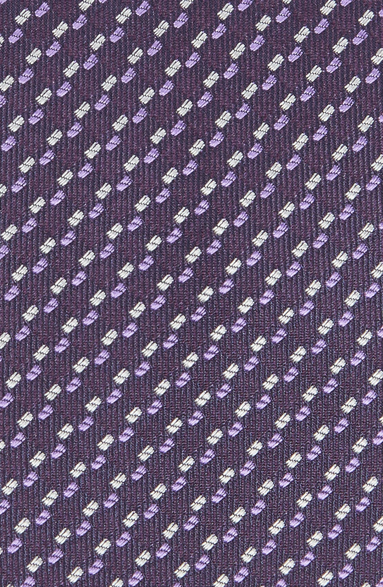 Dot Silk Tie,                             Alternate thumbnail 2, color,                             PURPLE