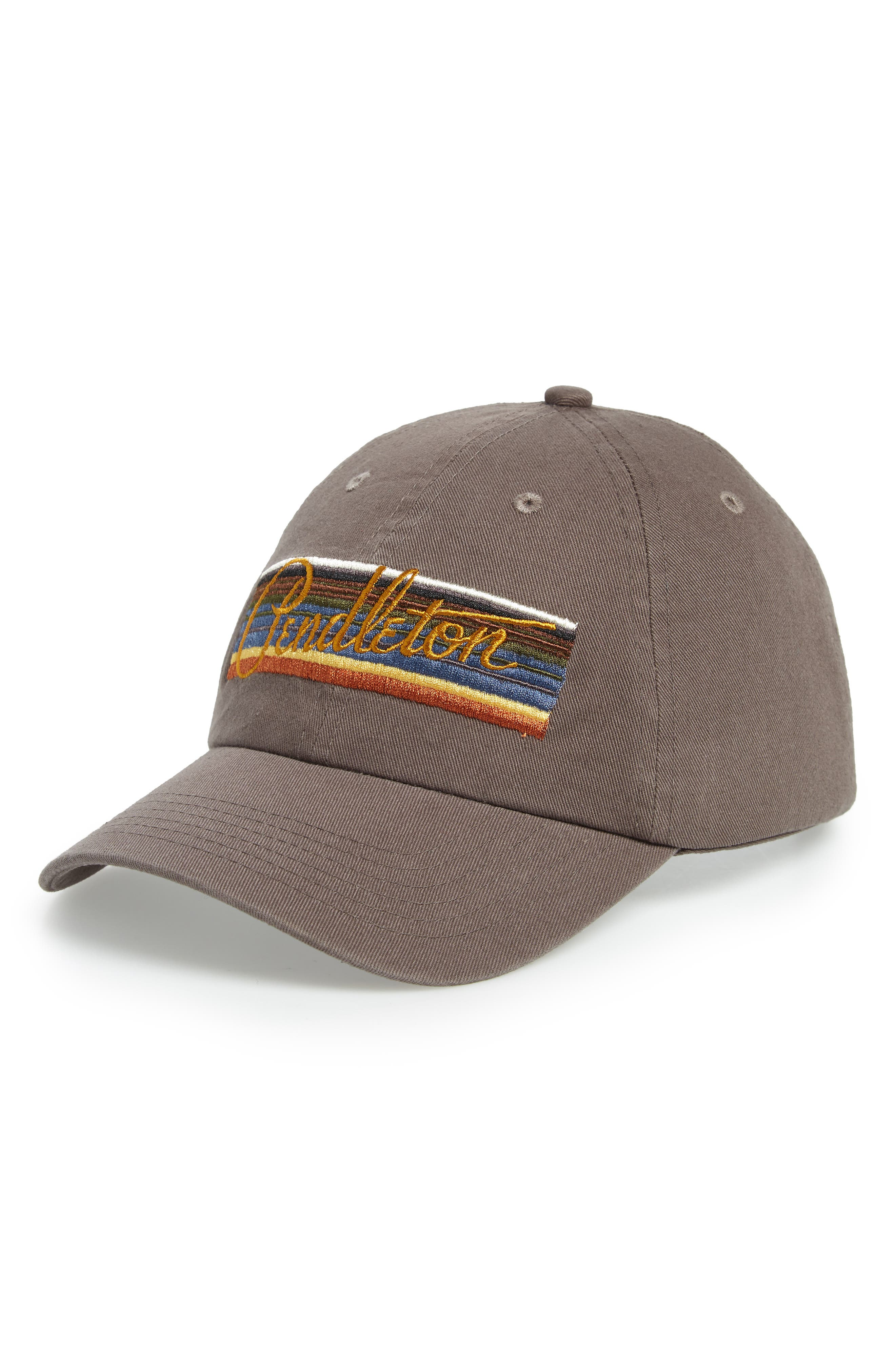 Olympic National Park Stripes Embroidered Cap,                             Main thumbnail 1, color,                             GREY