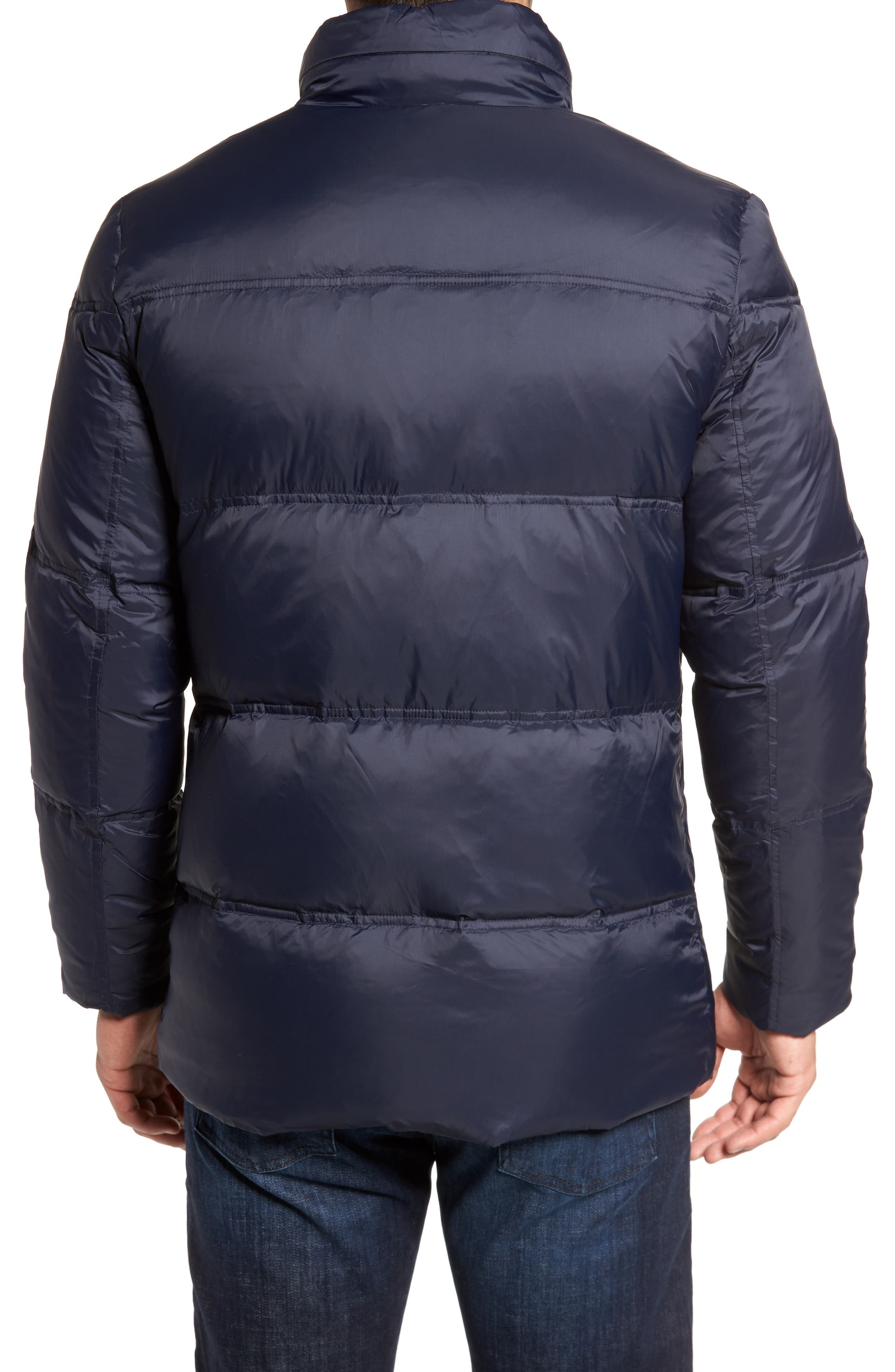 Quilted Jacket with Convertible Neck Pillow,                             Alternate thumbnail 2, color,                             NAVY