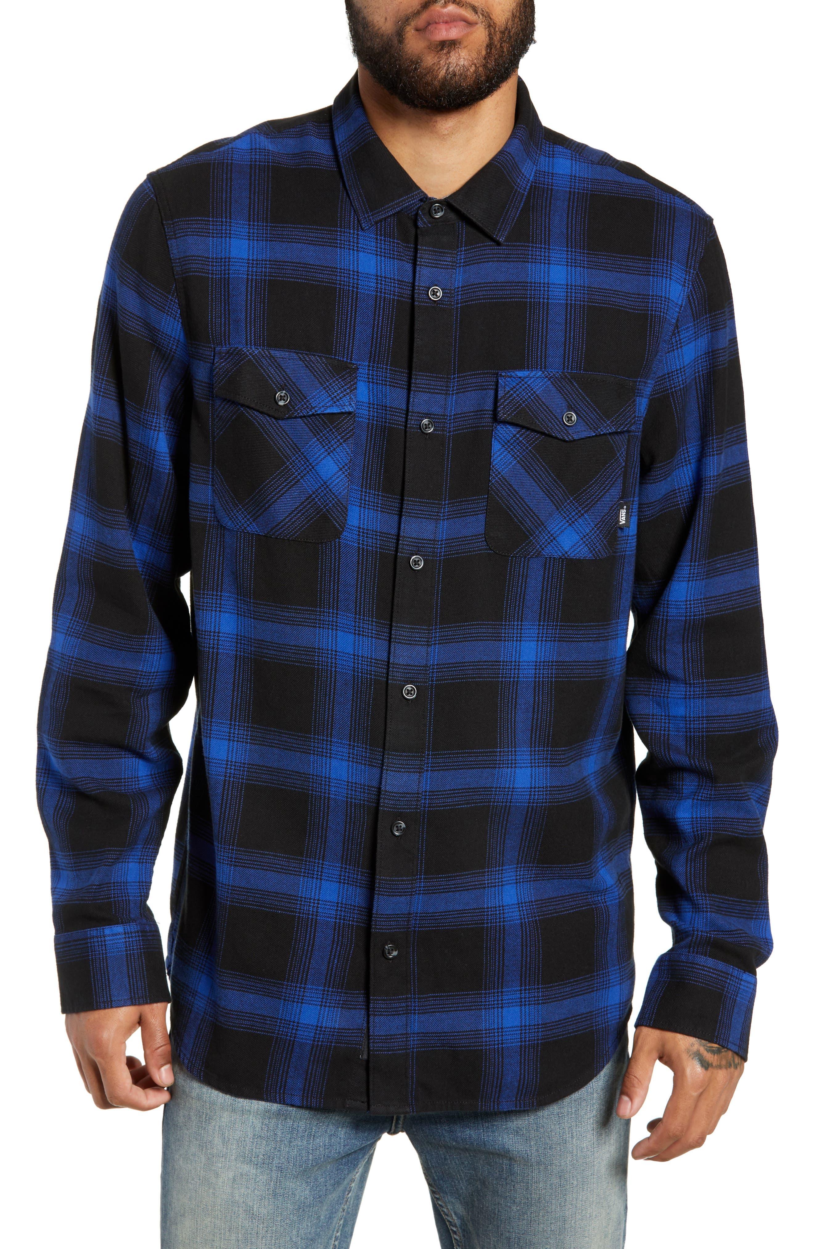 Vans Monterey Iii Plaid Flannel Shirt, Black