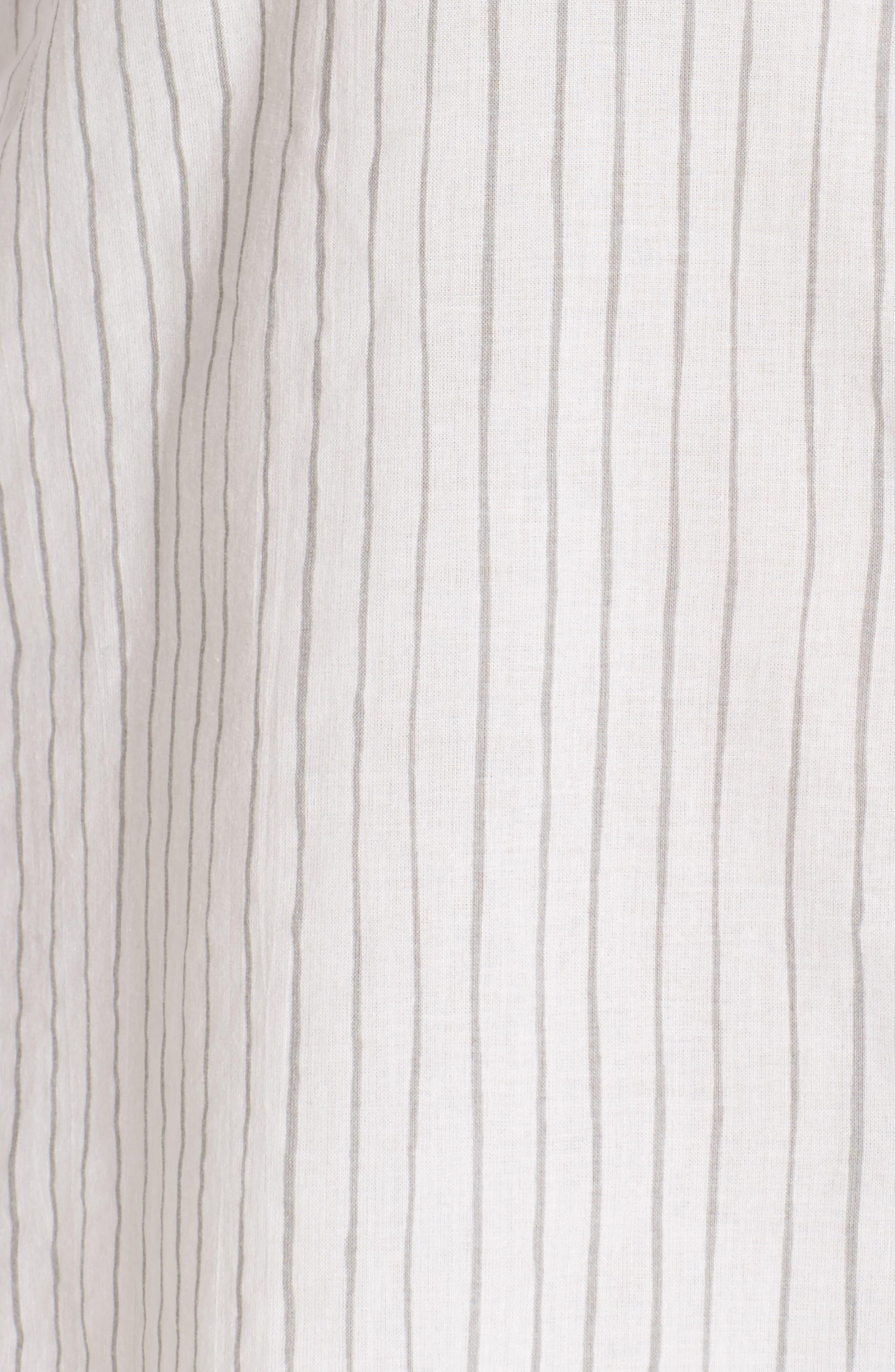 Pinstripe Boyfriend Sleep Shirt,                             Alternate thumbnail 5, color,                             020