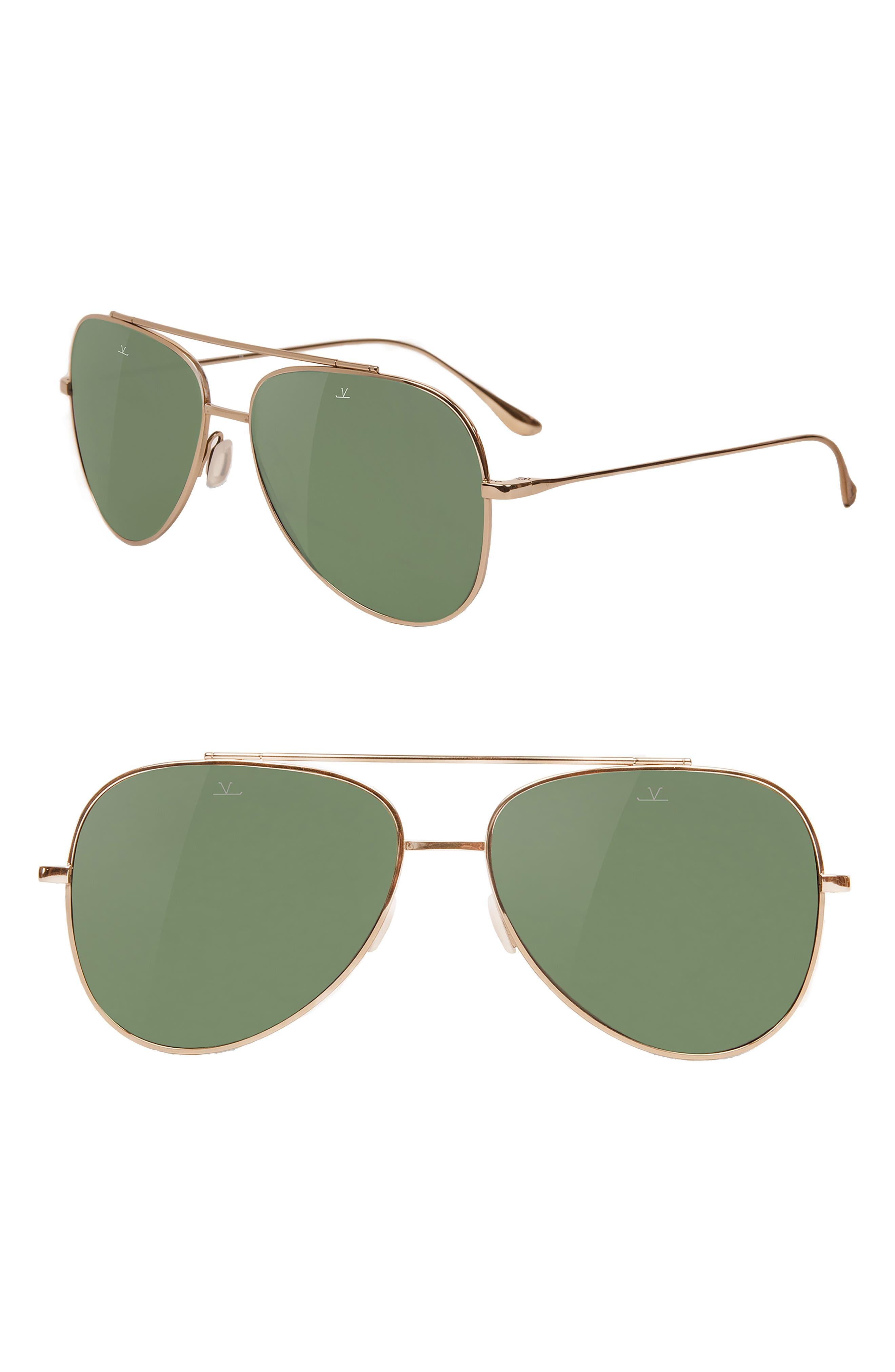 Swing 58mm Aviator Sunglasses,                         Main,                         color, PURE GREY