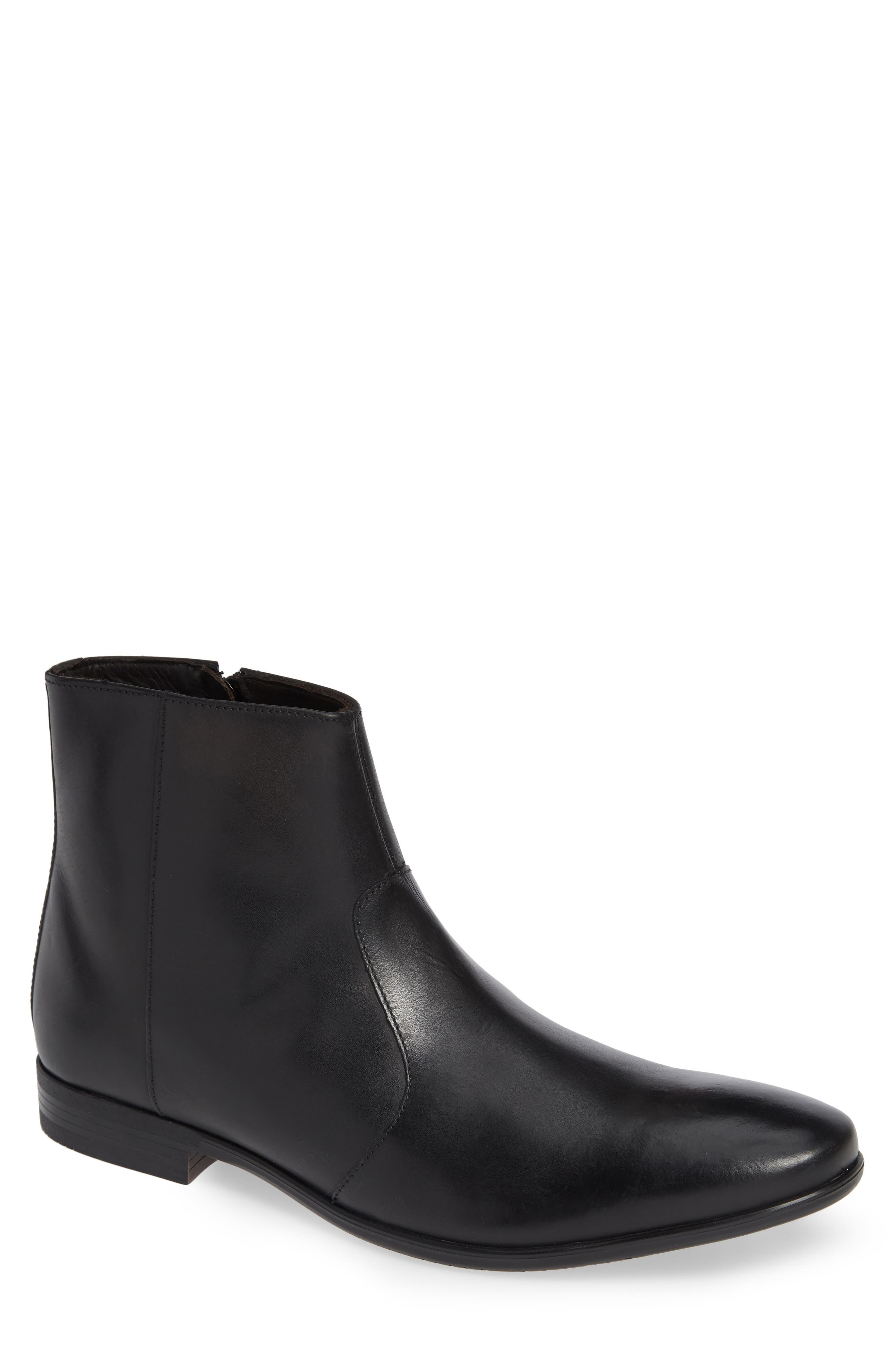 Zip Boot,                             Main thumbnail 1, color,                             BLACK
