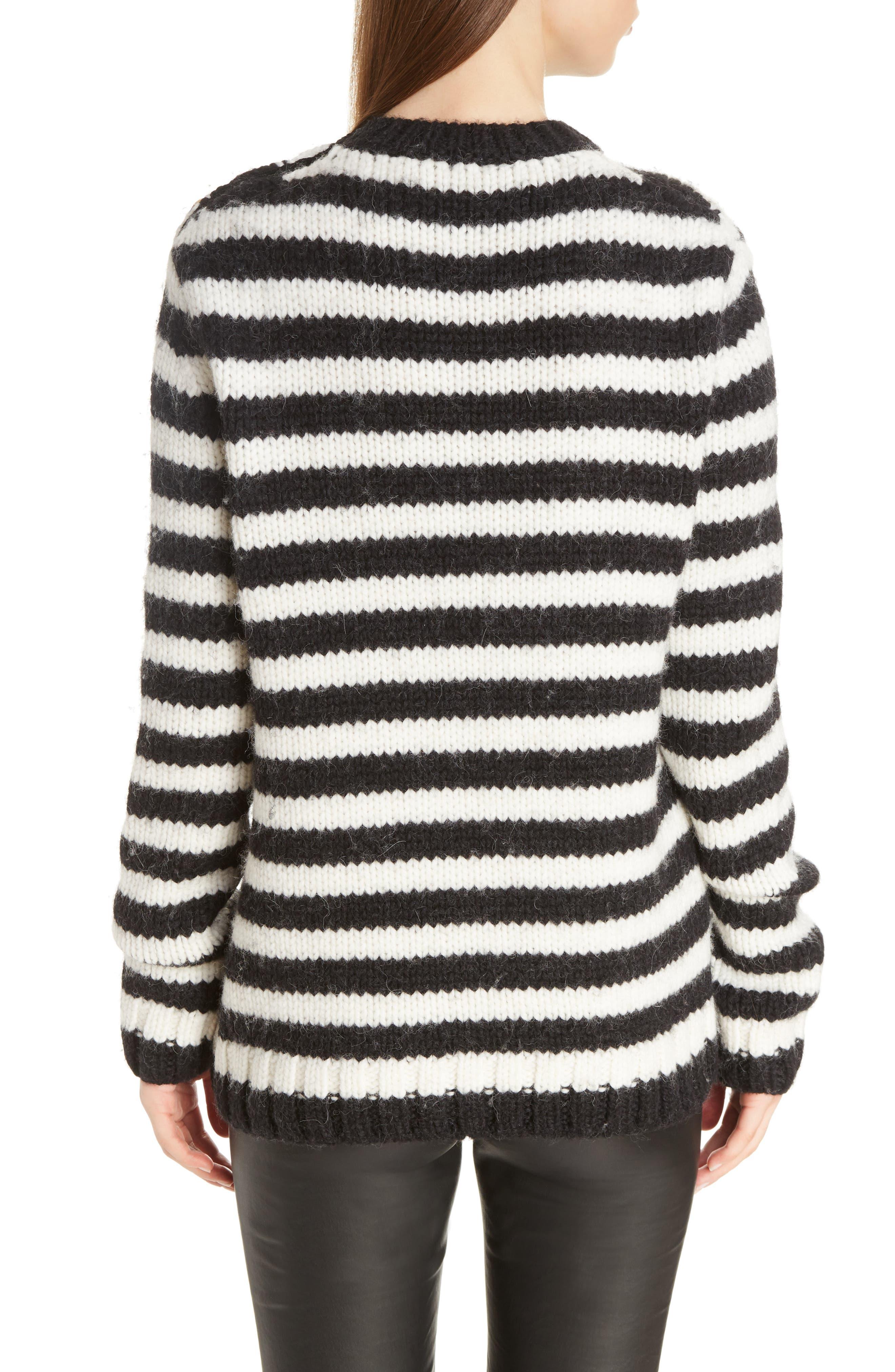 Stripe Wool & Alpaca Sweater,                             Alternate thumbnail 2, color,                             419